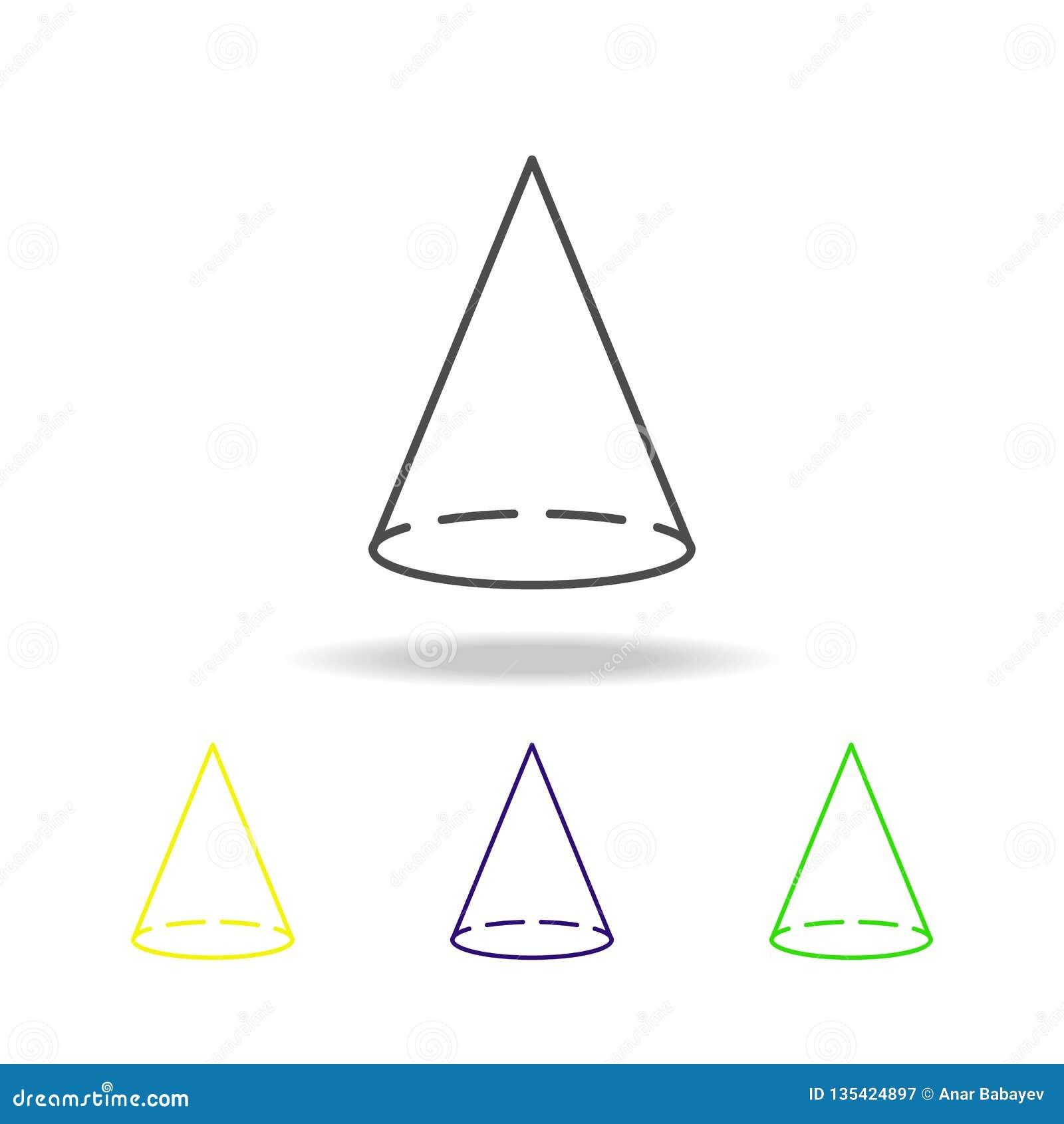 Icono Coloreado Cono Puede Ser Utilizado Para La Web