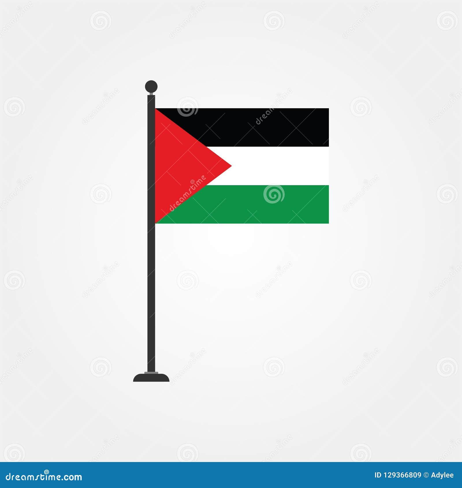 Icono común 3 de la bandera de Palestina gaza del vector