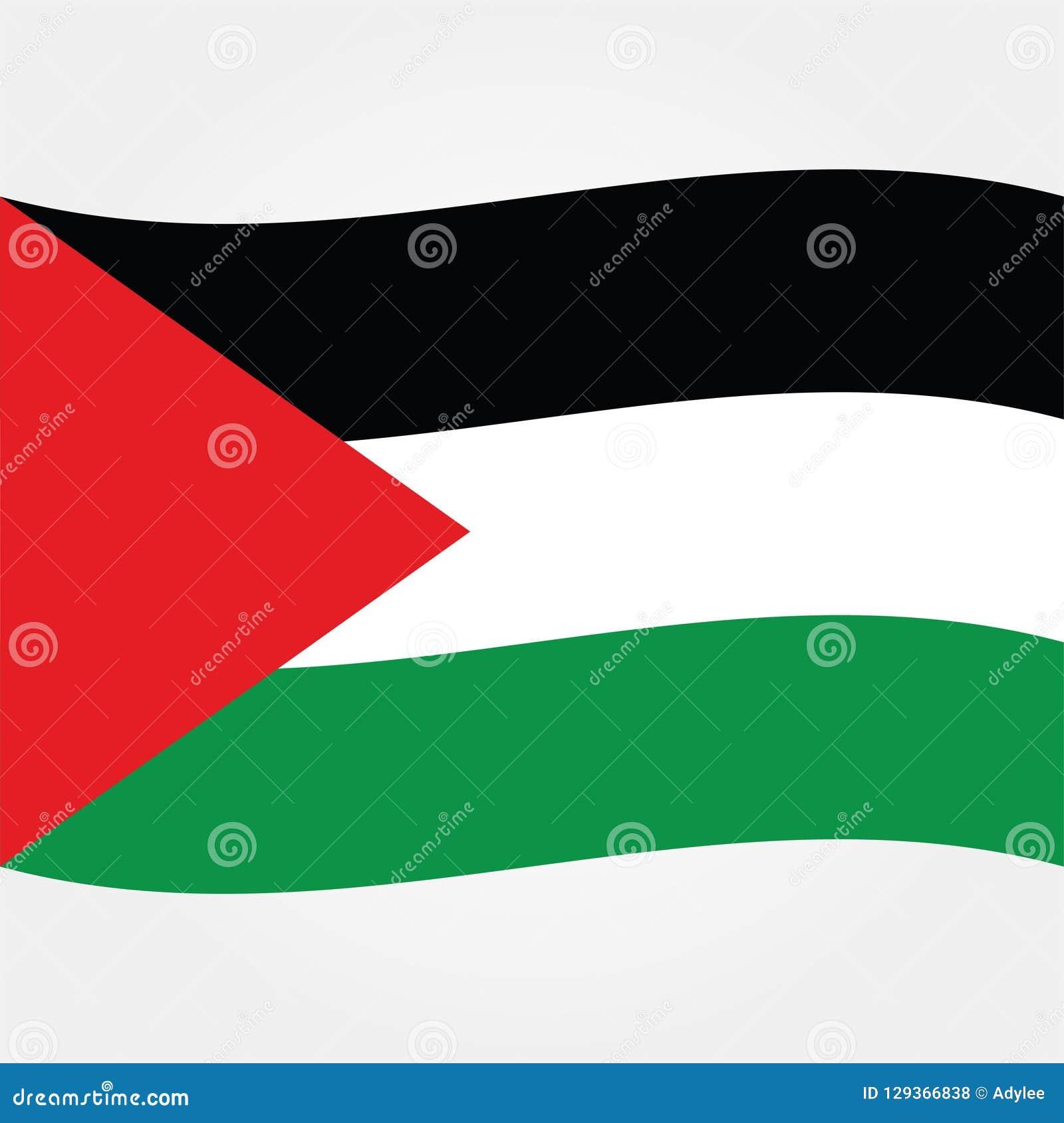 Icono común 2 de la bandera de Palestina gaza del vector
