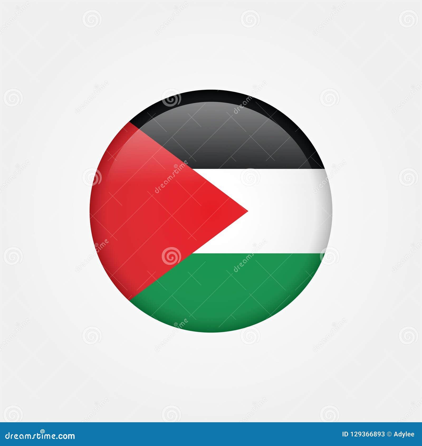 Icono común 5 de la bandera de Palestina gaza del vector