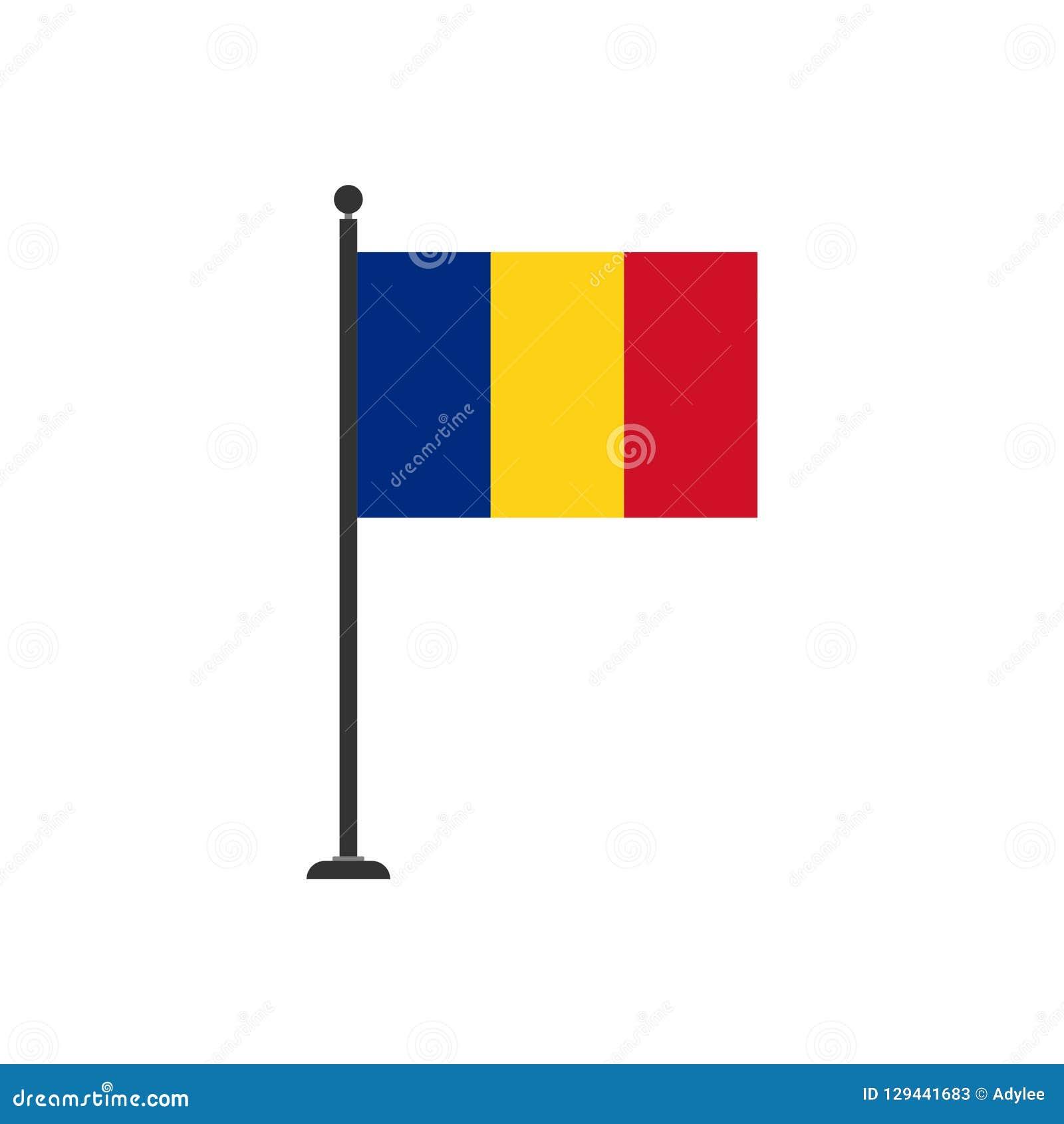 Icono común 3 de la bandera de Rumania del vector