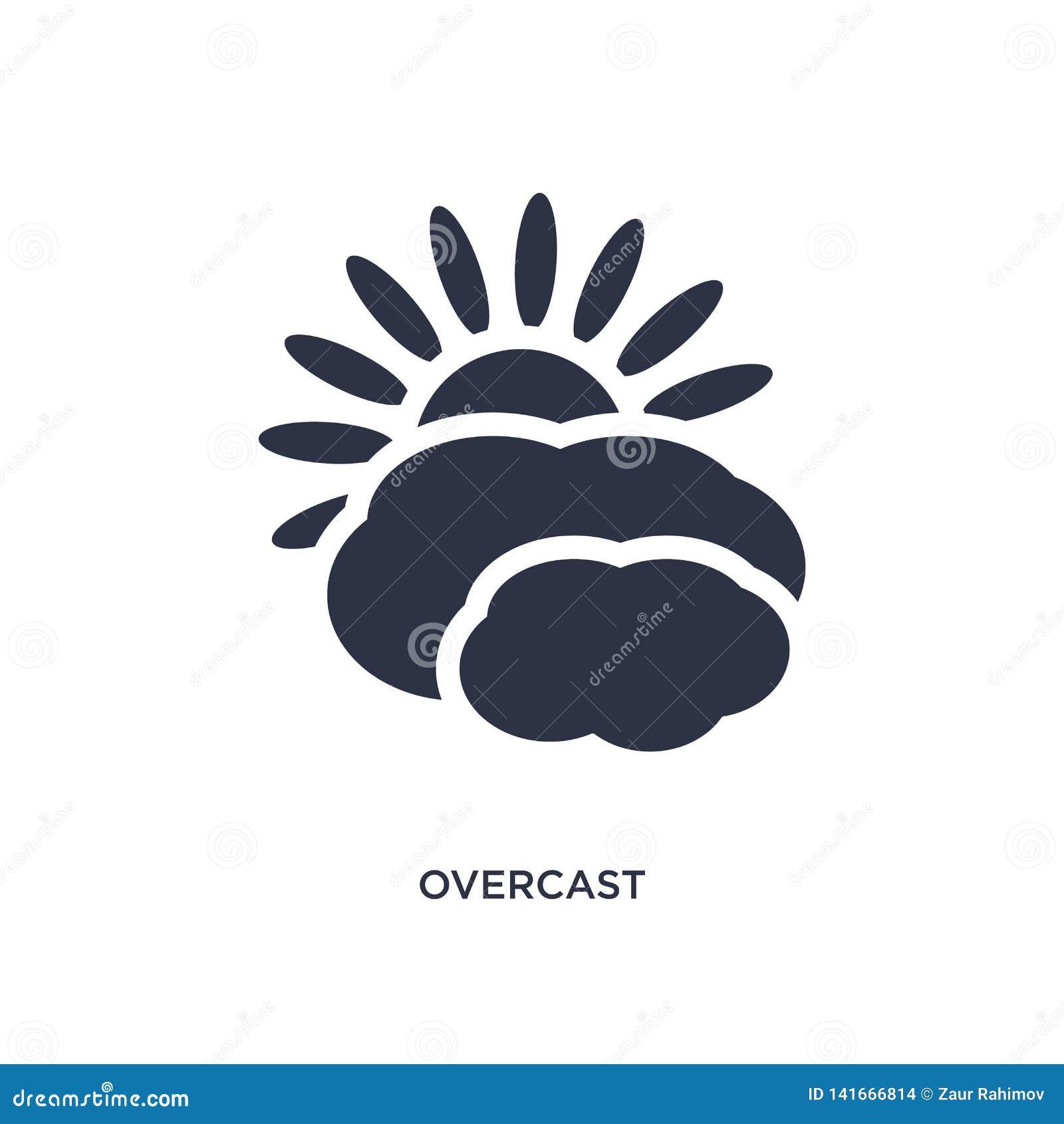 Icono cubierto en el fondo blanco Ejemplo simple del elemento del concepto de la meteorología