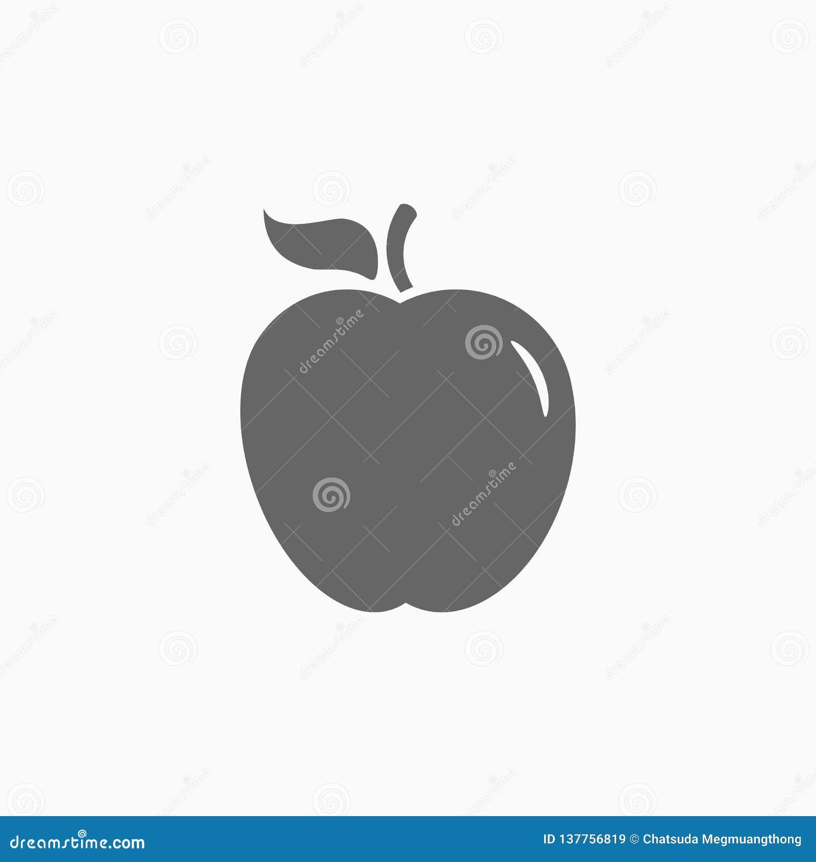 Icono de Apple, vector de la fruta