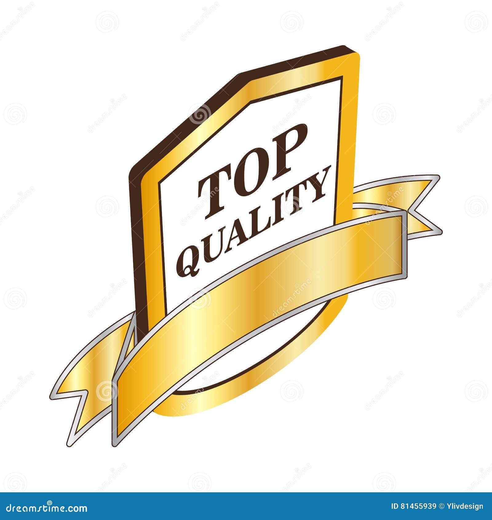Icono de calidad superior de la etiqueta, estilo isométrico 3d
