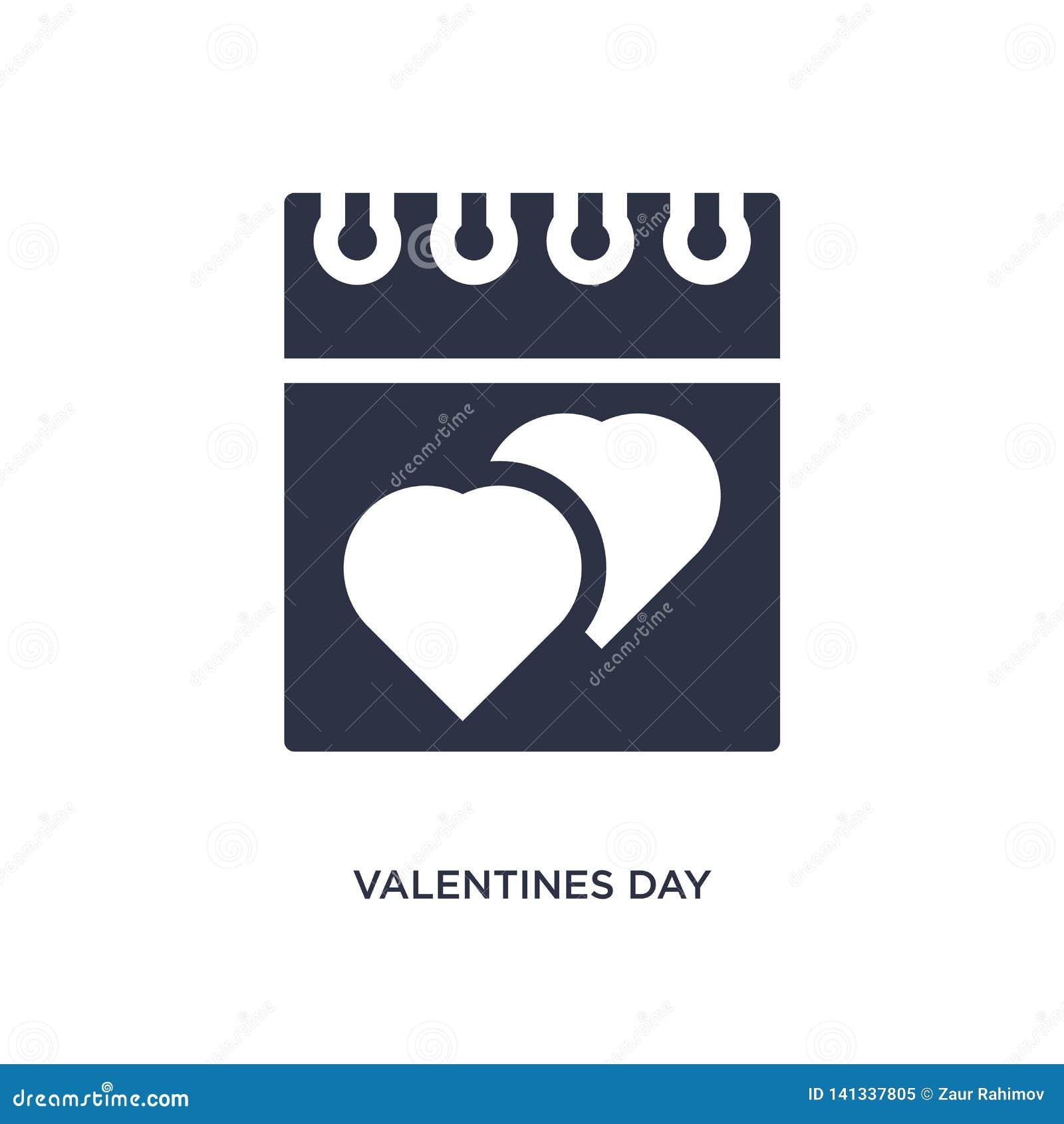 Icono de día de San Valentín en el fondo blanco Ejemplo simple del elemento del amor y del concepto el casarse