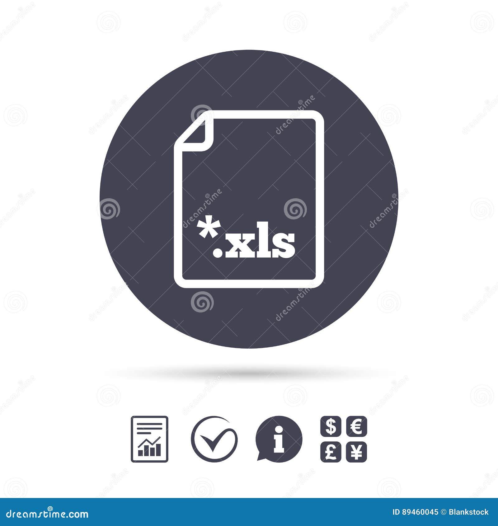 Icono De Documento Del Fichero De Excel Botón De Los Xls De La