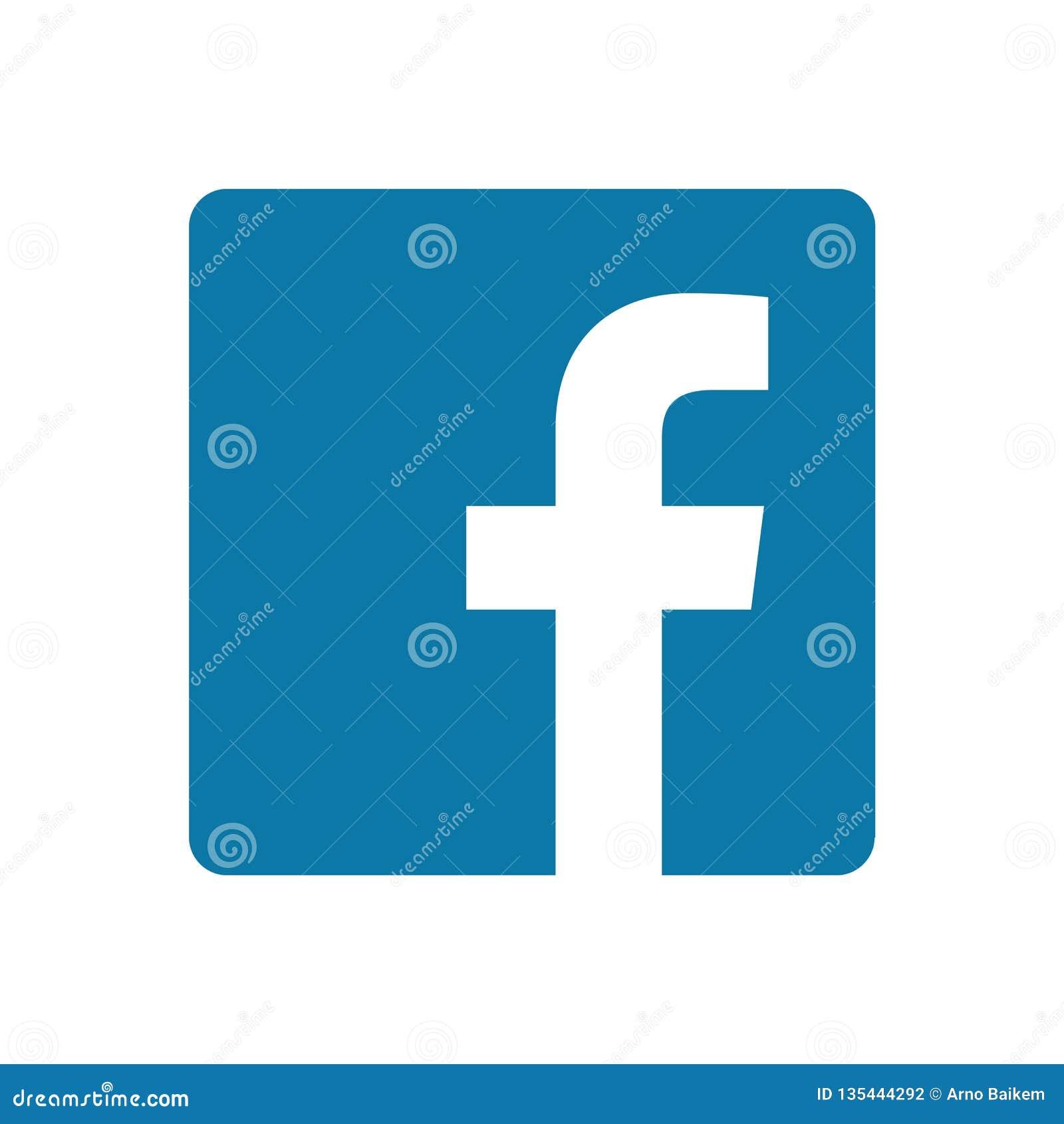 Icono de Facebook en un fondo blanco