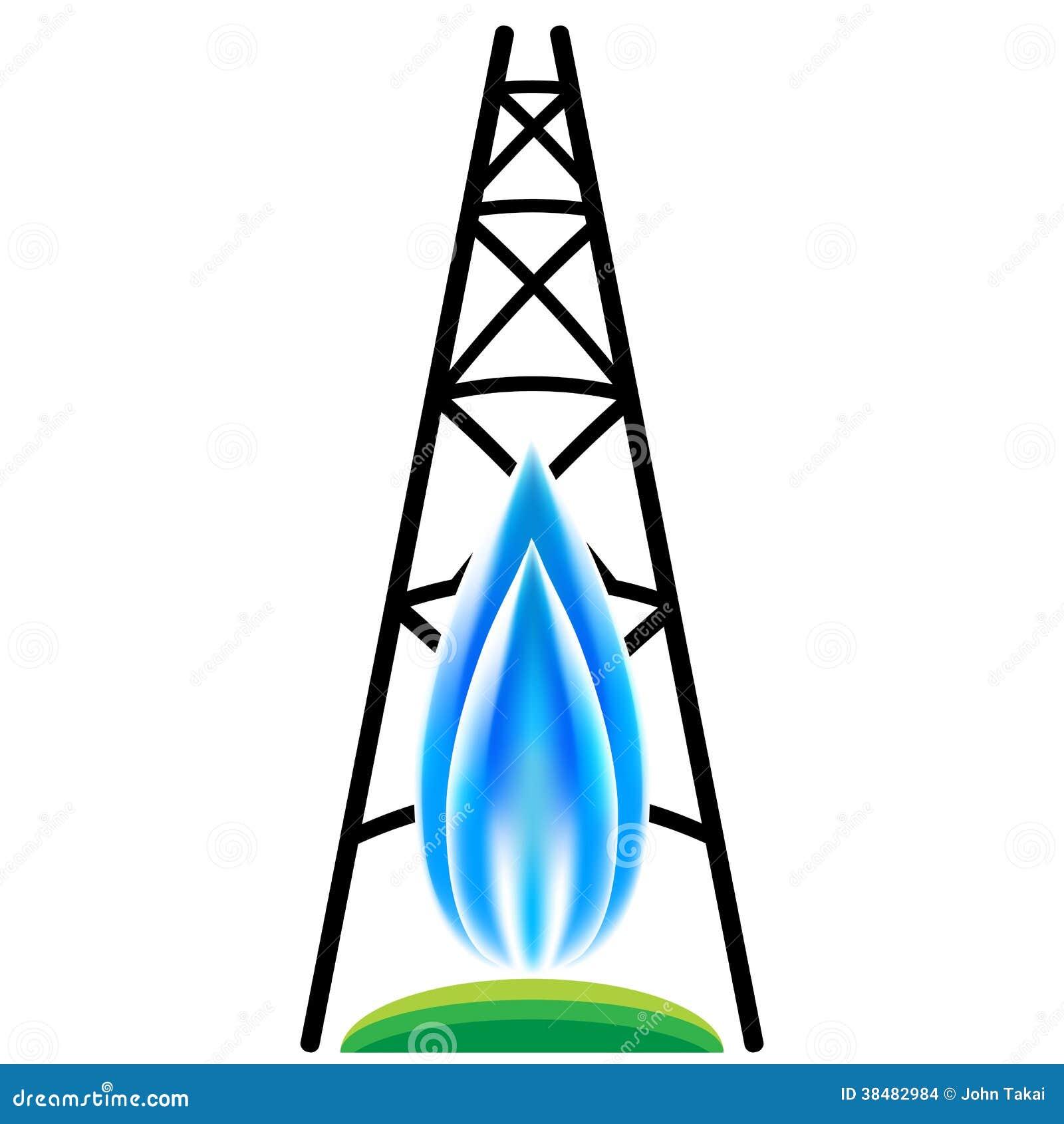 Icono de fracking del gas natural imagenes de archivo for Imagenes de gas natural