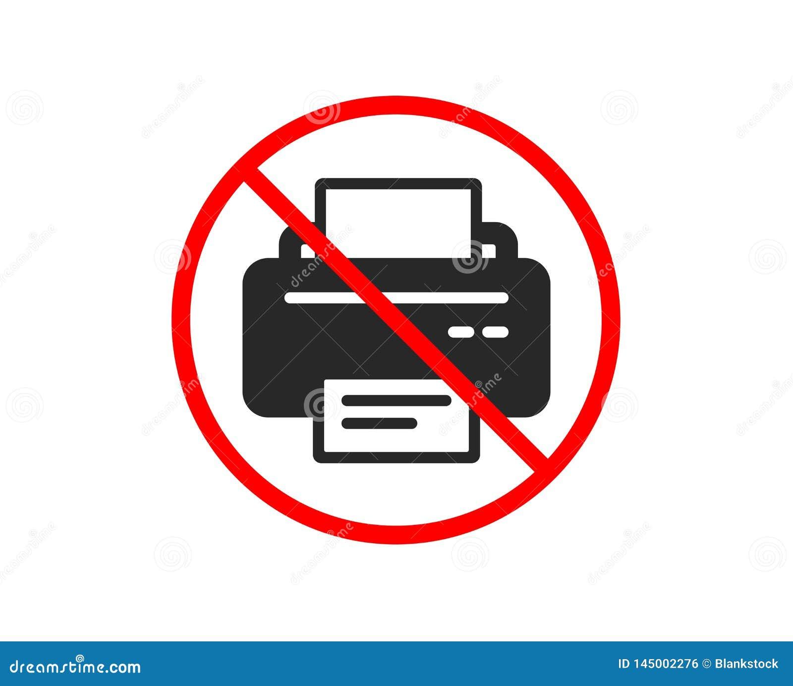 Icono de impresora Muestra del dispositivo del listado Vector