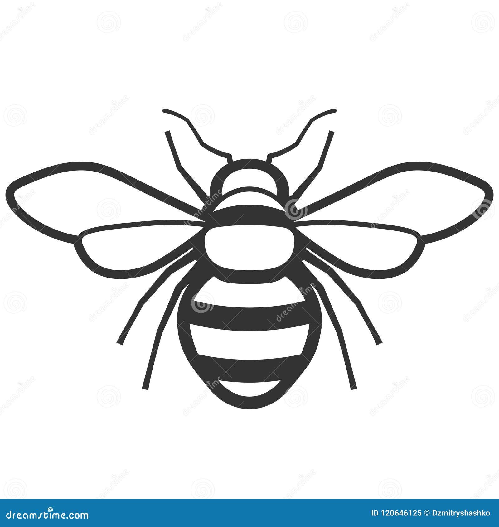 Icono de la abeja de la miel