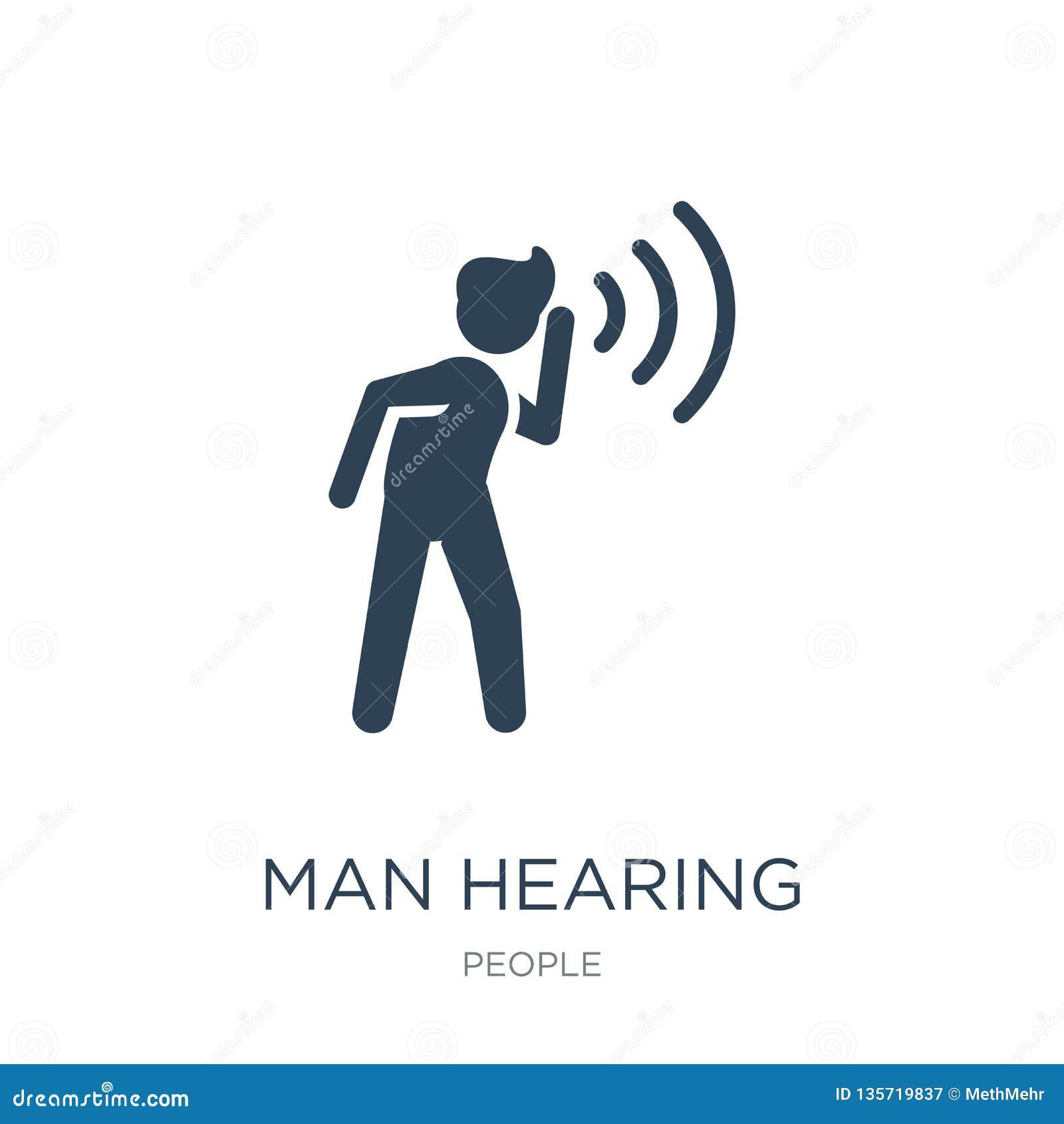 Icono de la audiencia del hombre en estilo de moda del diseño icono de la audiencia del hombre aislado en el fondo blanco icono d