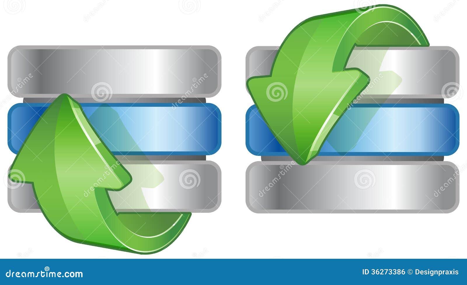 Icono De La Base De Datos Ilustración Del Vector