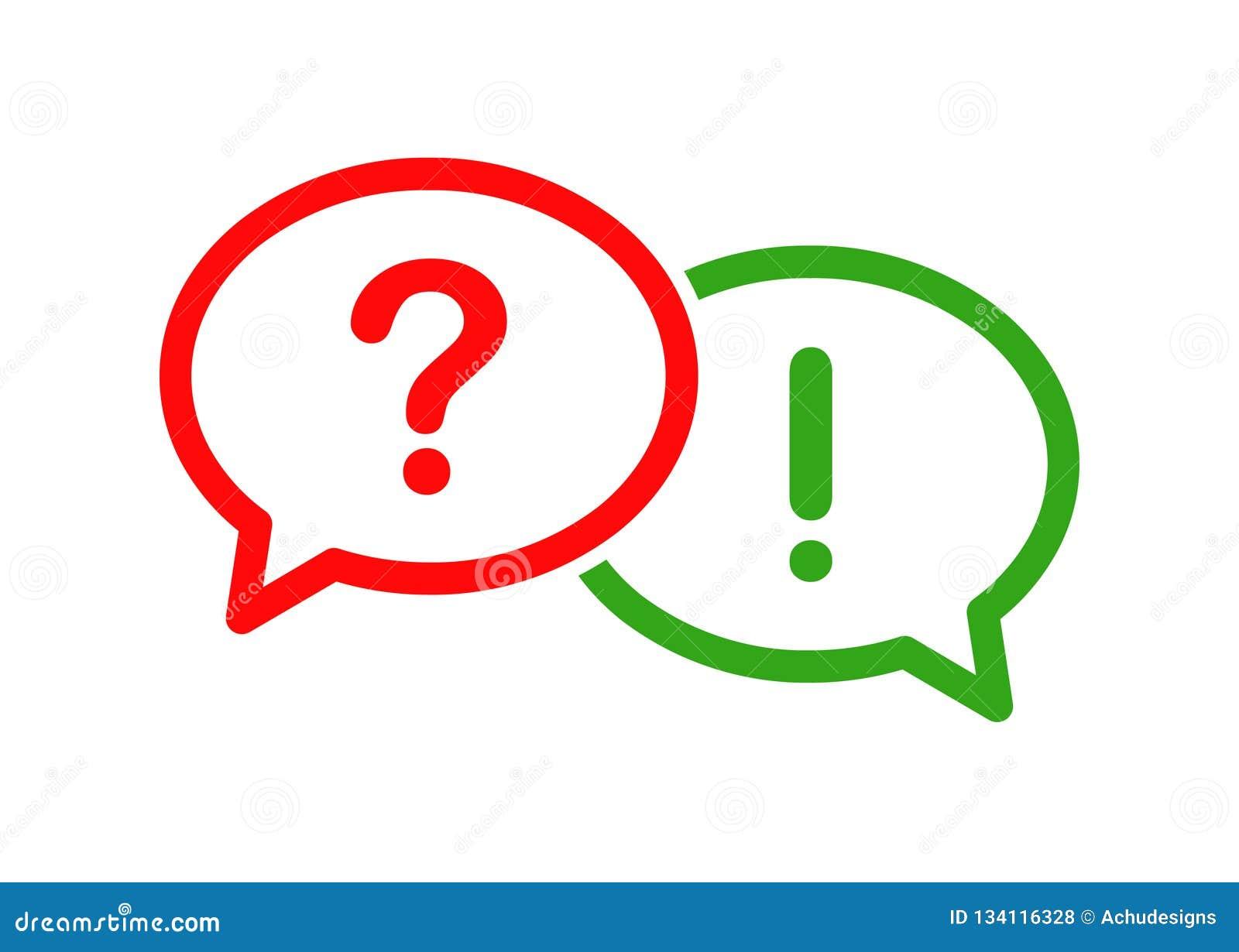 Icono de la burbuja de la pregunta y de la respuesta