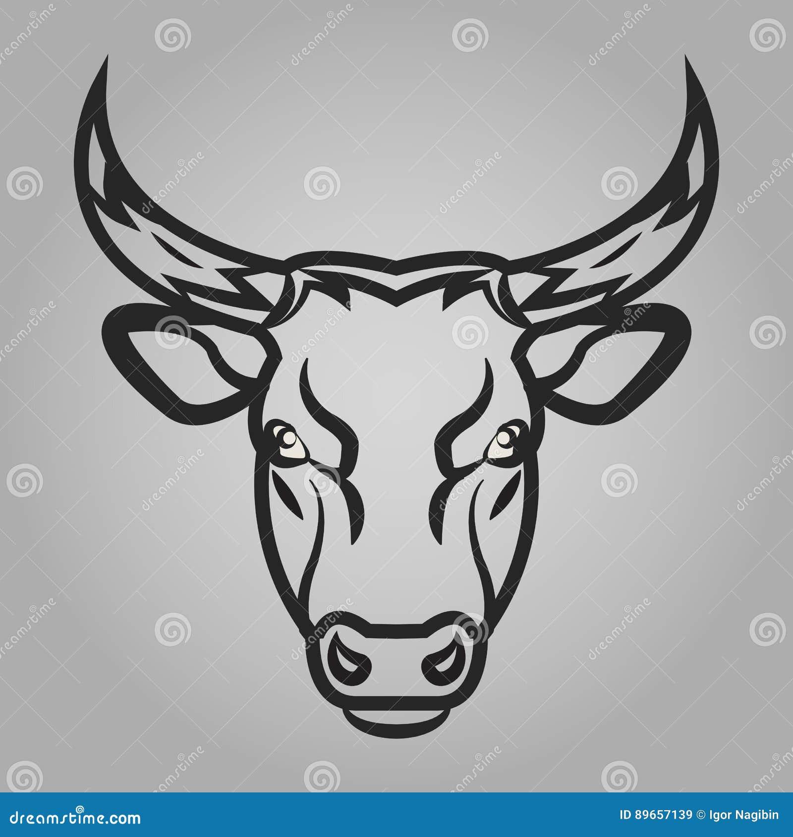 Icono de la cabeza de Bull