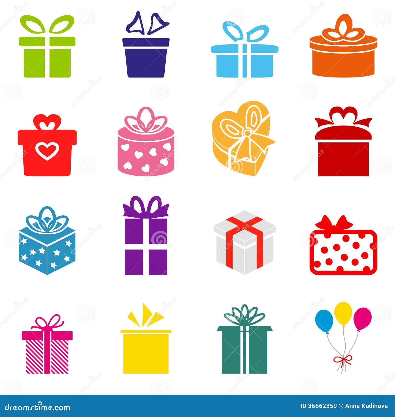 Icono de la caja de regalo del vector im genes de archivo for Pc in regalo gratis