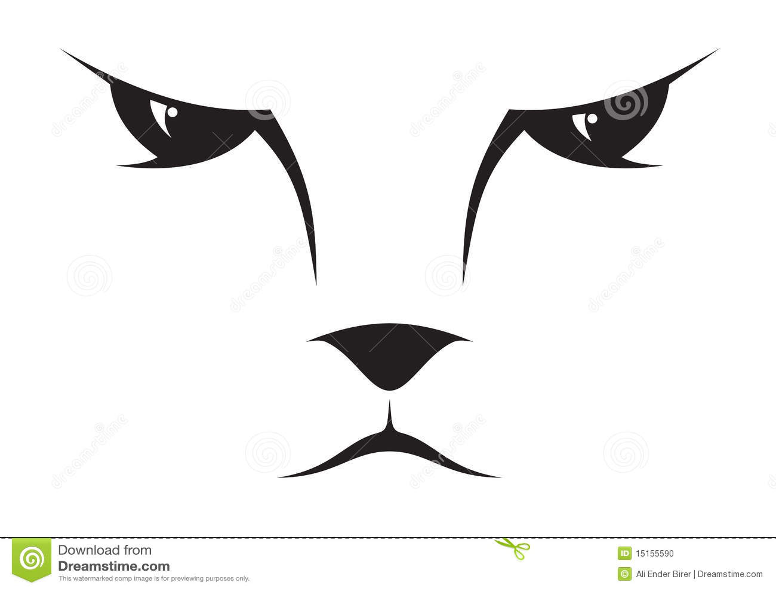 Icono de la cara del gato