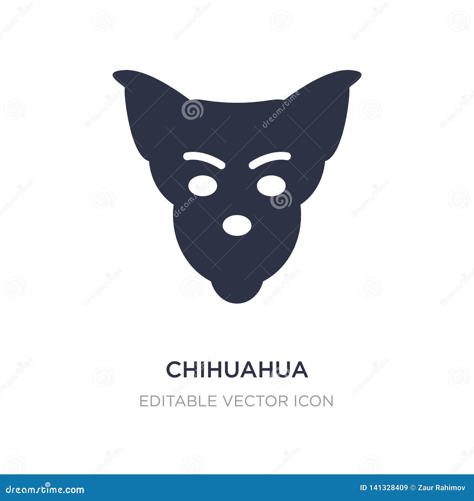 Icono de la chihuahua en el fondo blanco Ejemplo simple del elemento del concepto de los animales