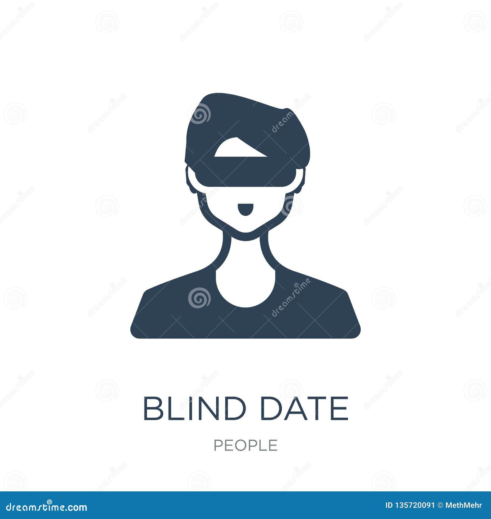Icono de la cita a ciegas en estilo de moda del diseño icono de la cita a ciegas aislado en el fondo blanco icono del vector de l