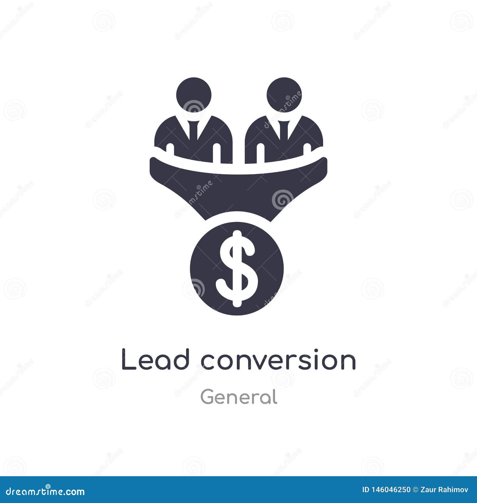 Icono de la conversi?n de la ventaja ejemplo aislado del vector del icono de la conversión de la ventaja de la colección general