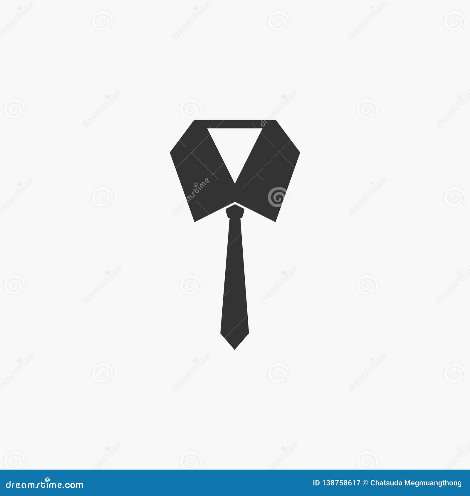 Icono de la corbata, lazo, blusa de la corbata