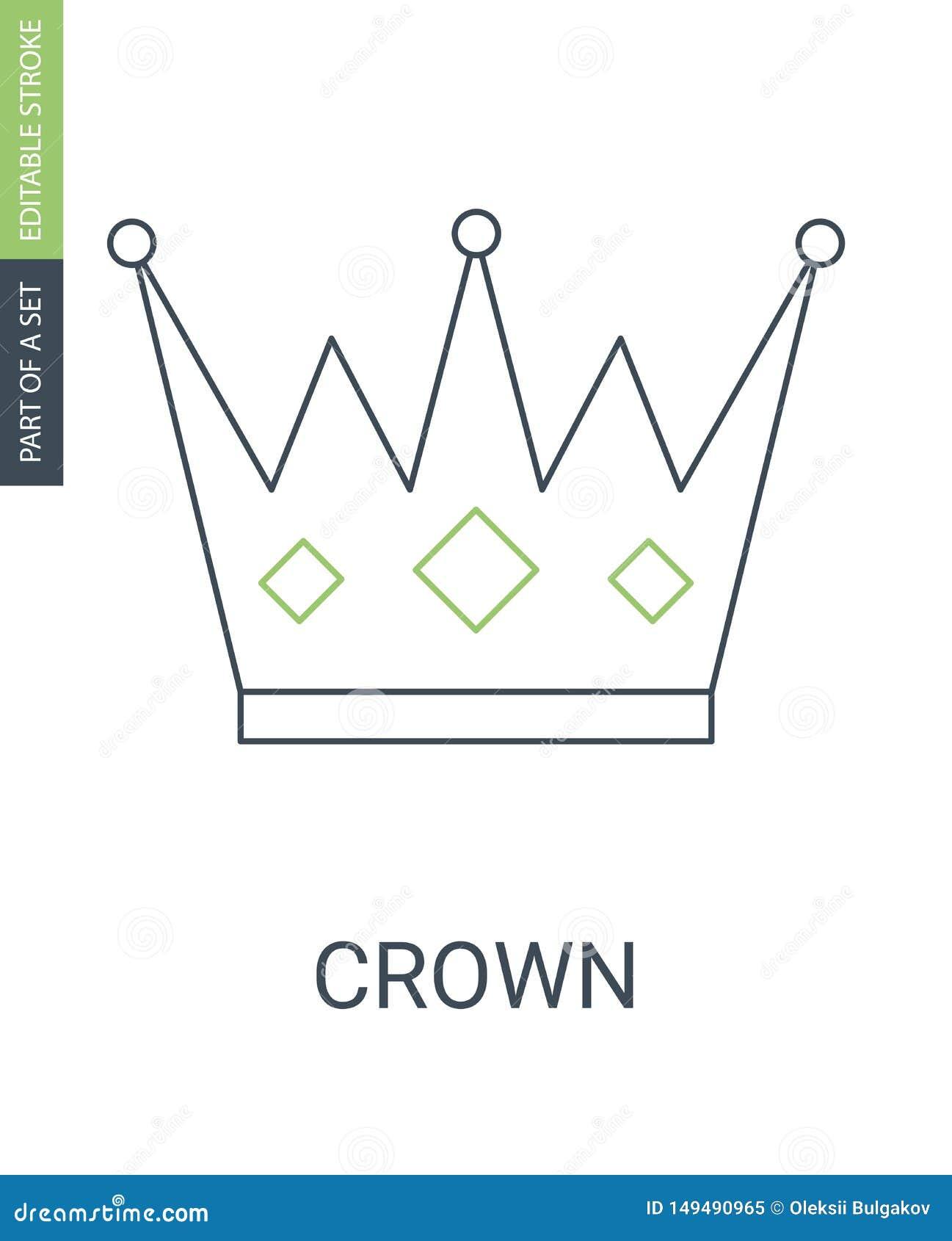Icono de la corona en estilo plano de moda aislado en blanco S?mbolo para su dise?o del sitio web, logotipo, app, UI de la corona