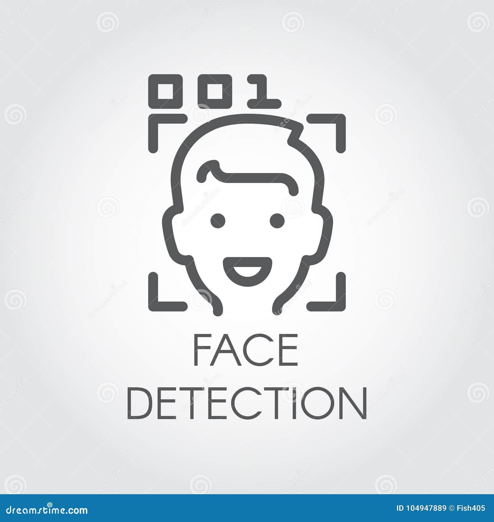 Icono De La Detección De La Cara Reconocimiento Biométrico Facial ...