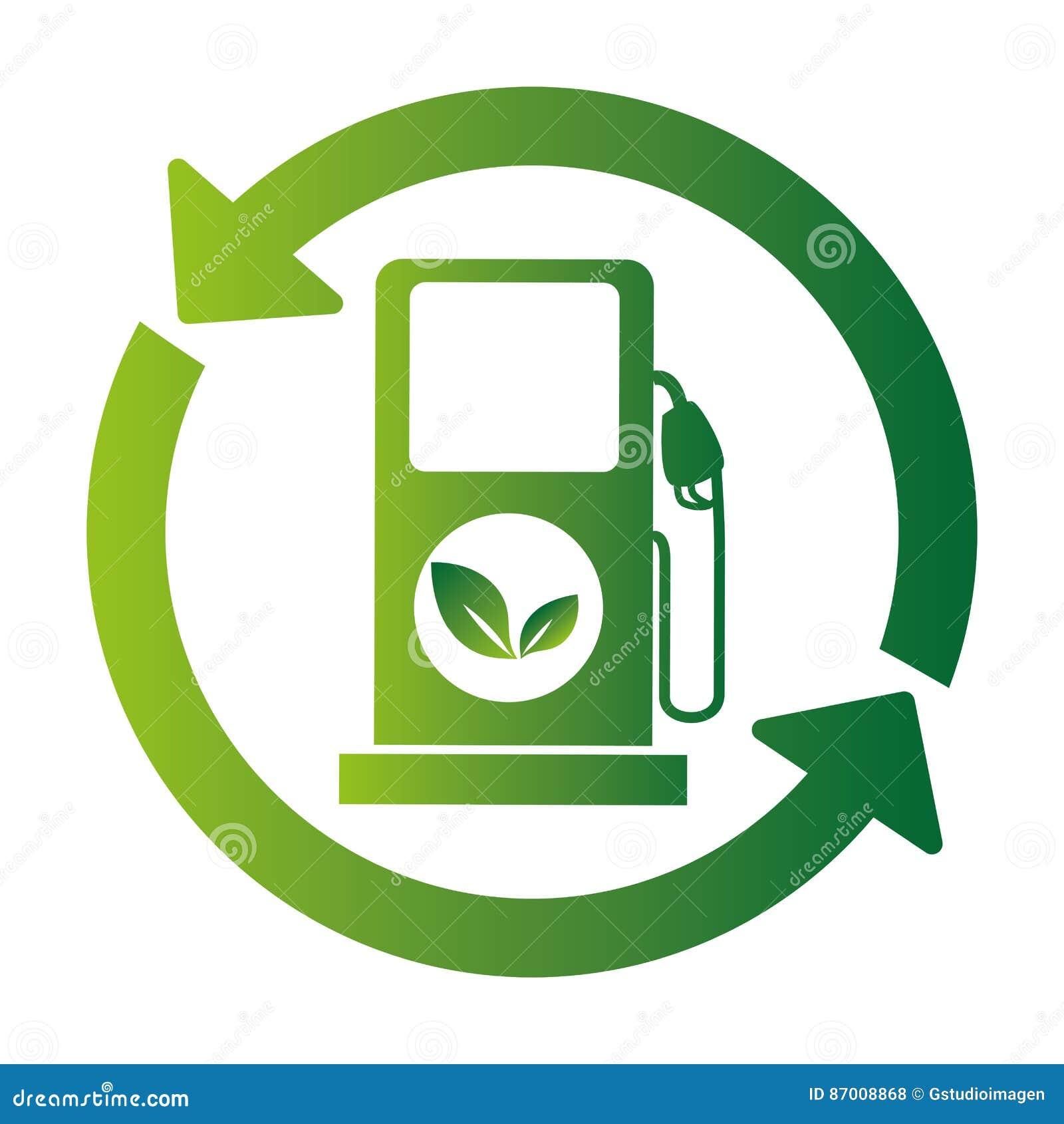 Icono de la ecología de la estación del combustible