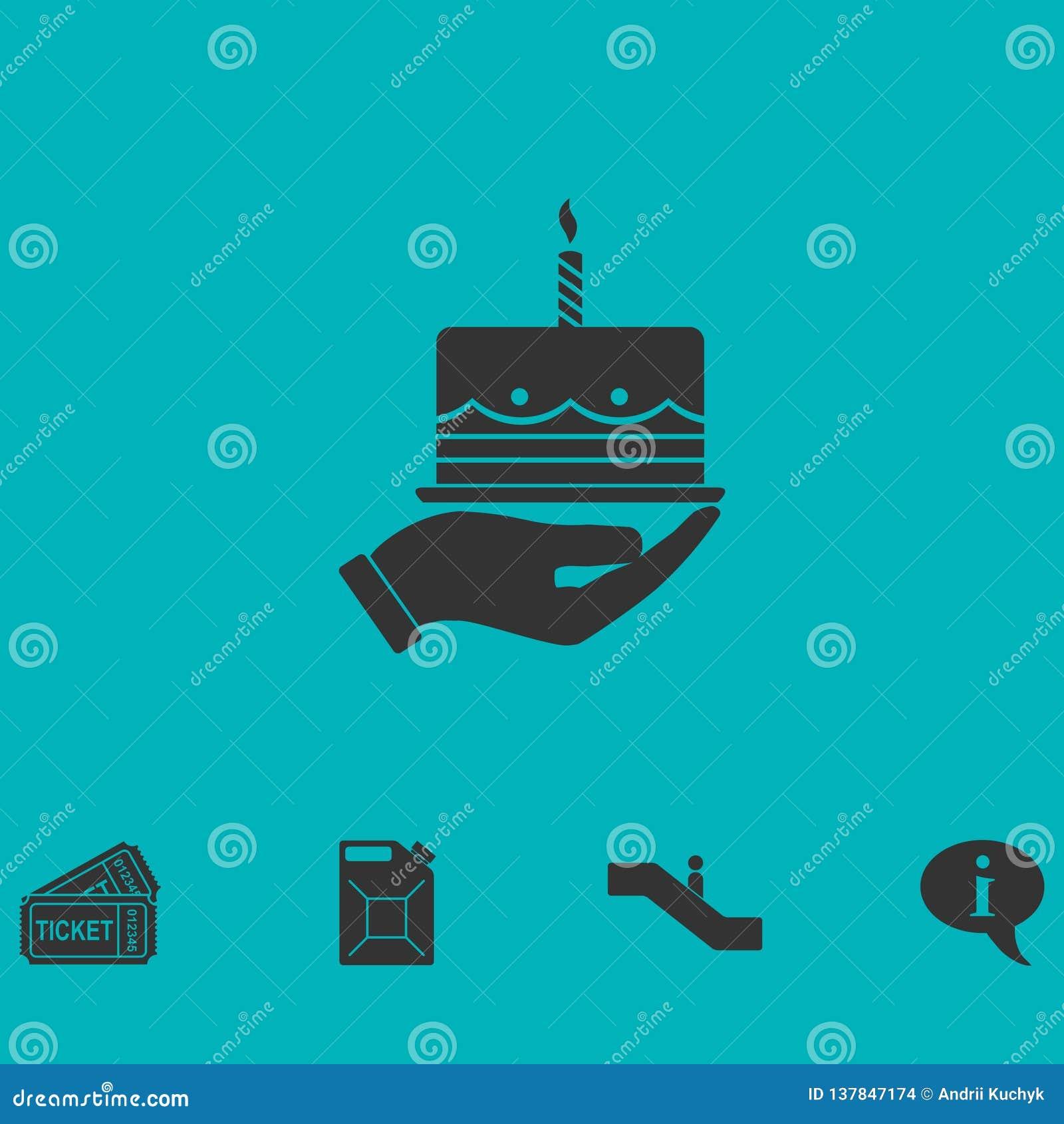Icono de la empanada plano