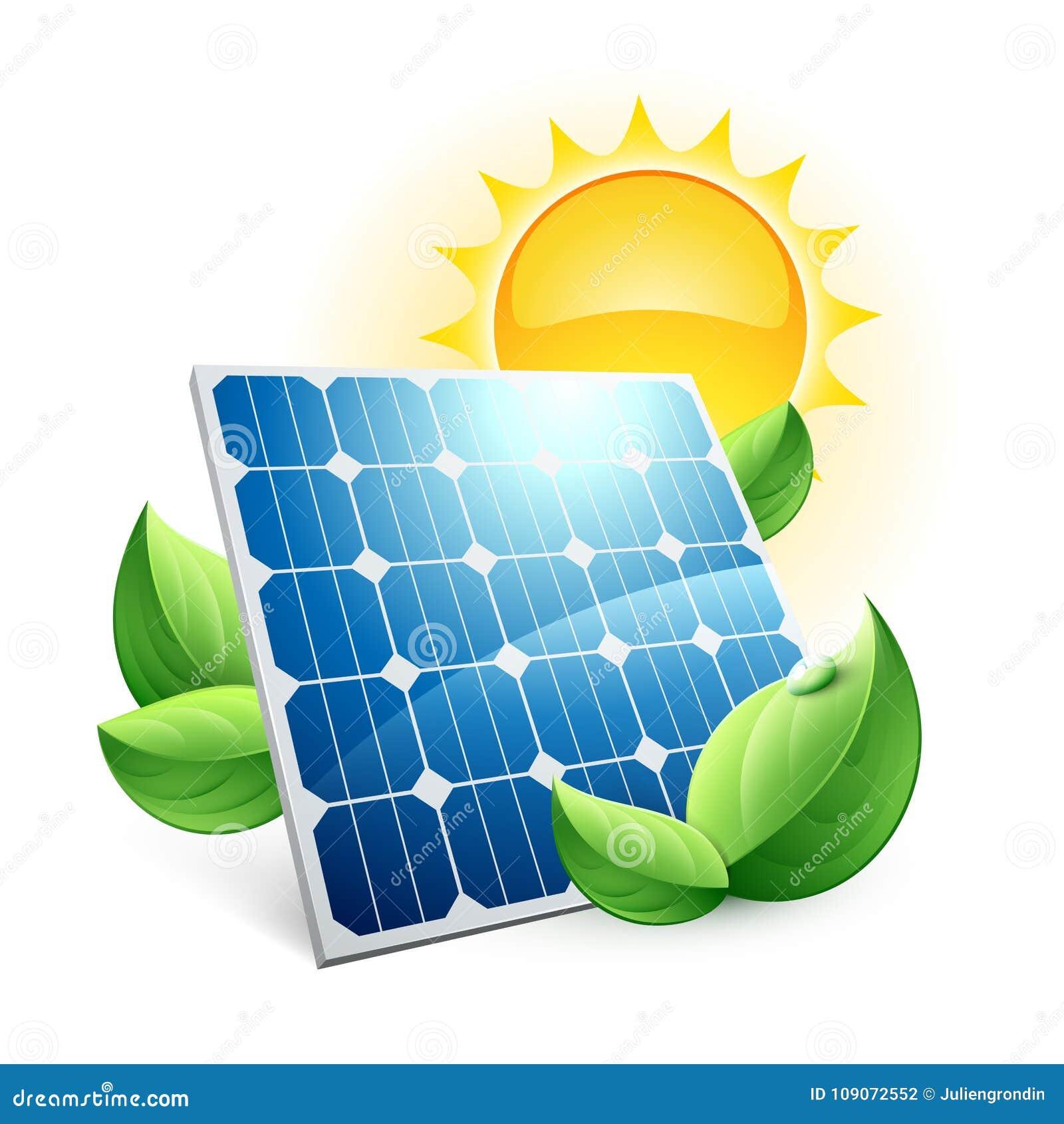 Icono de la energía del verde del panel solar