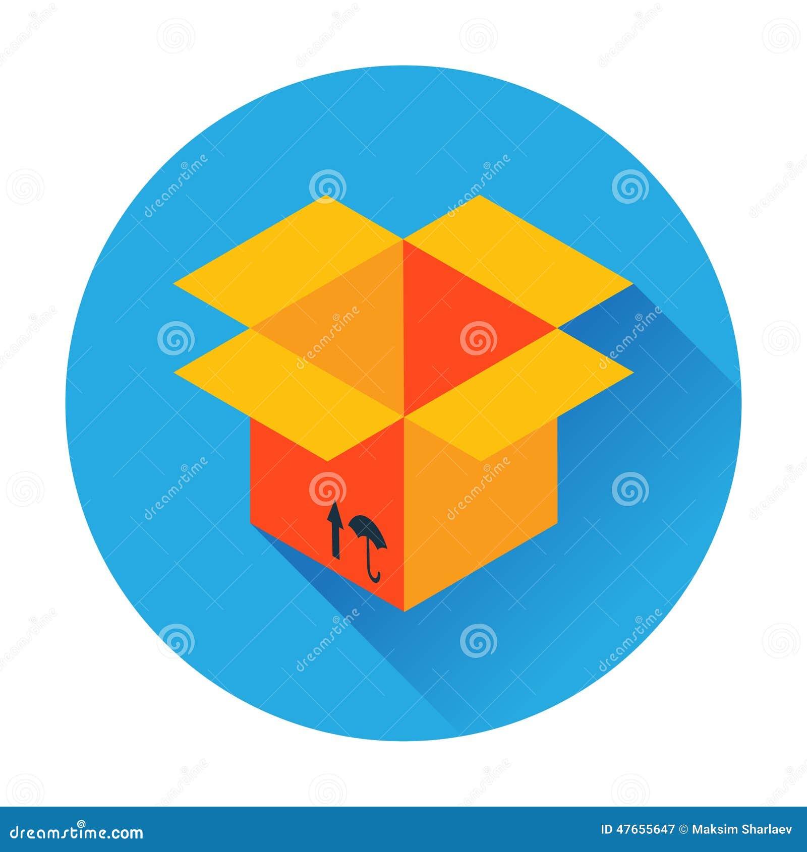Icono de la entrega de la caja