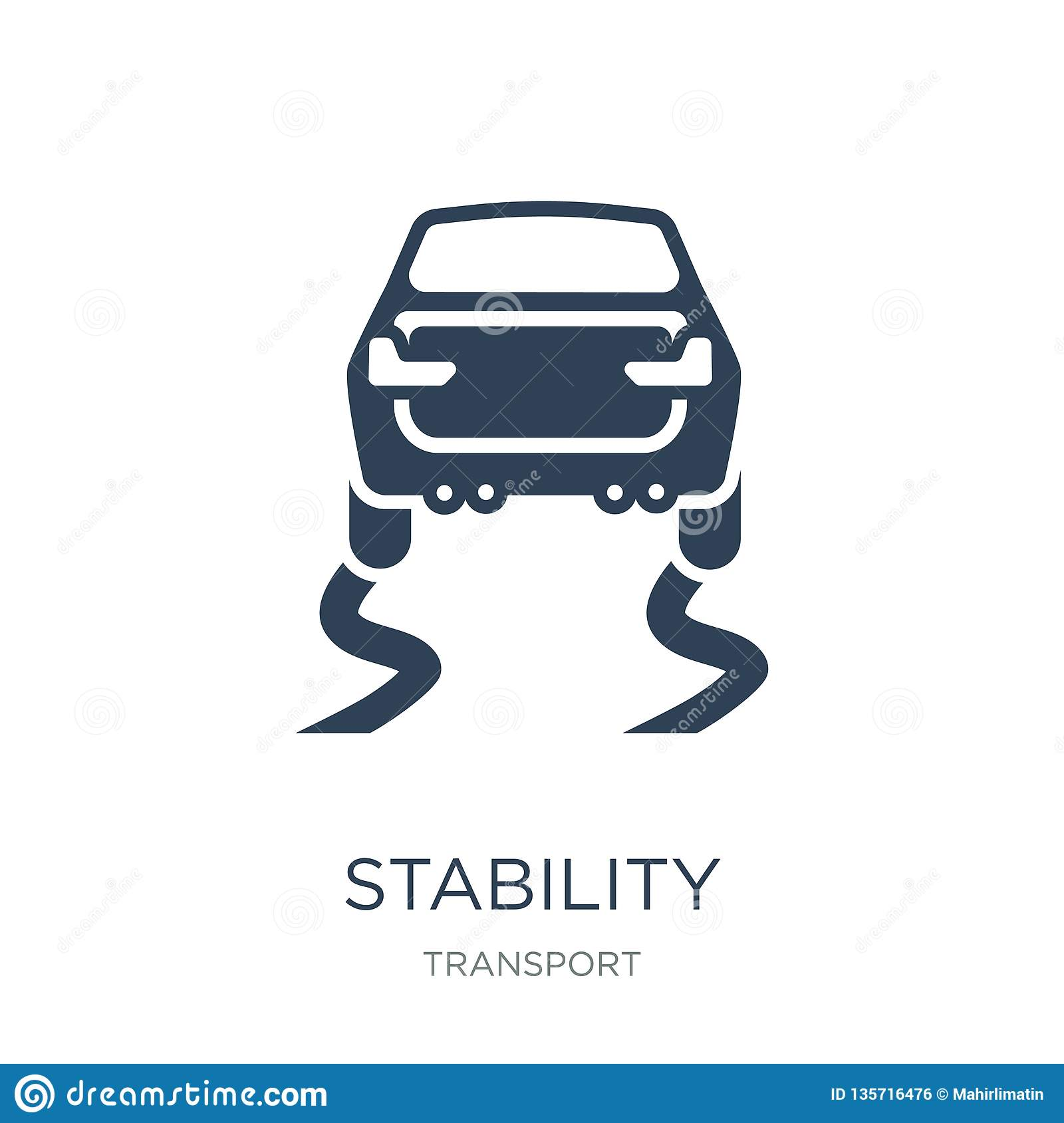 Icono de la estabilidad en estilo de moda del diseño Icono de la estabilidad aislado en el fondo blanco plano simple y moderno de