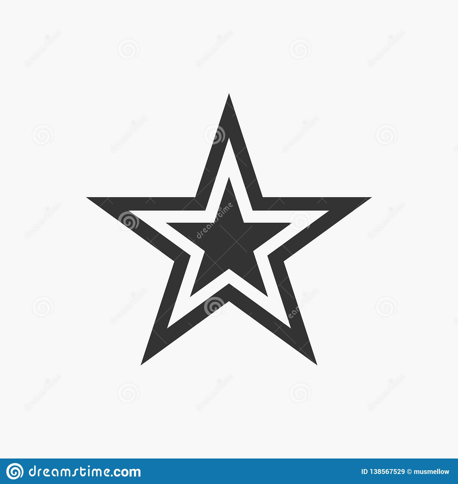 Icono de la estrella, cielo, noche, voto