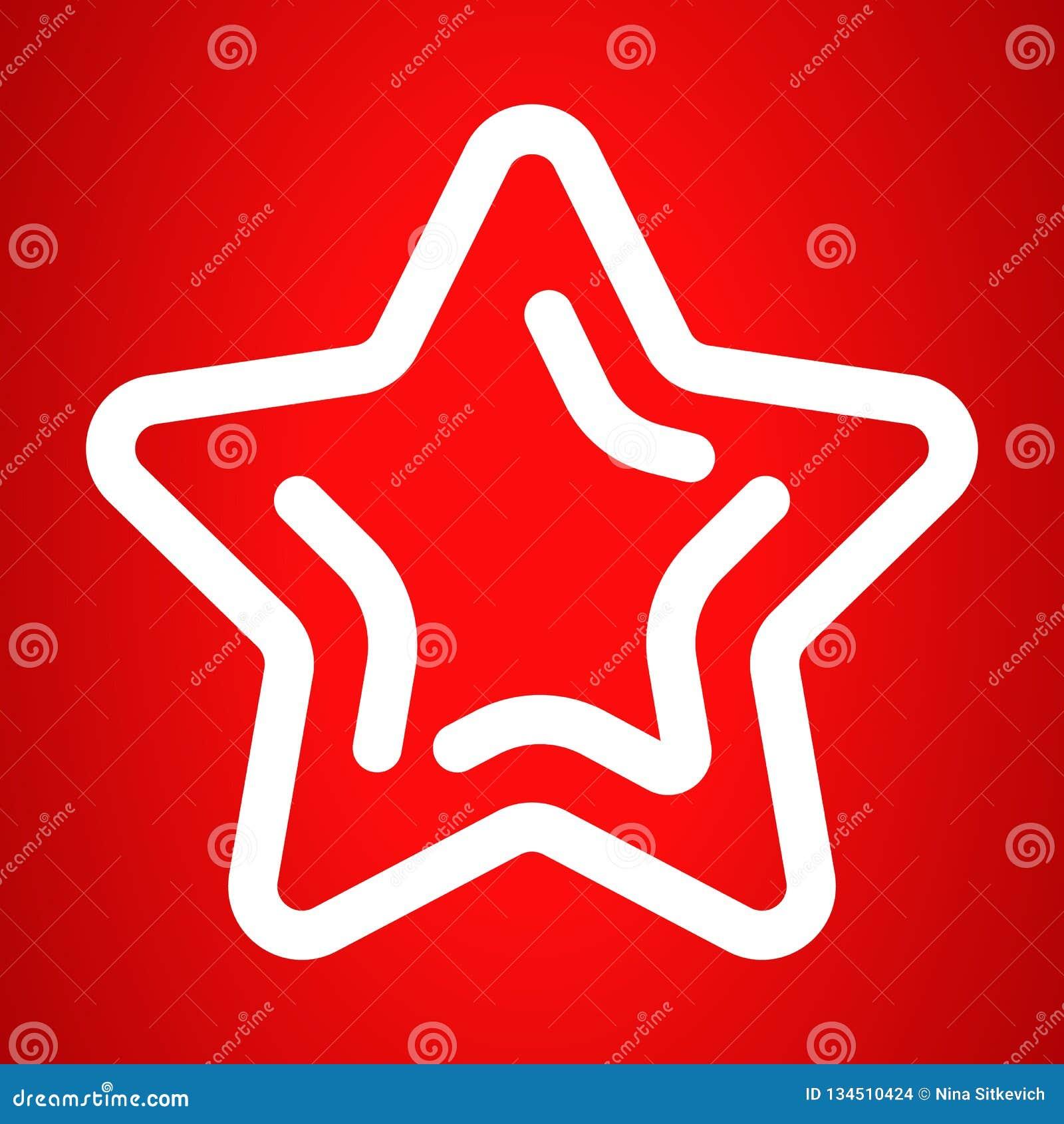 Icono de la estrella de Navidad, estilo del esquema