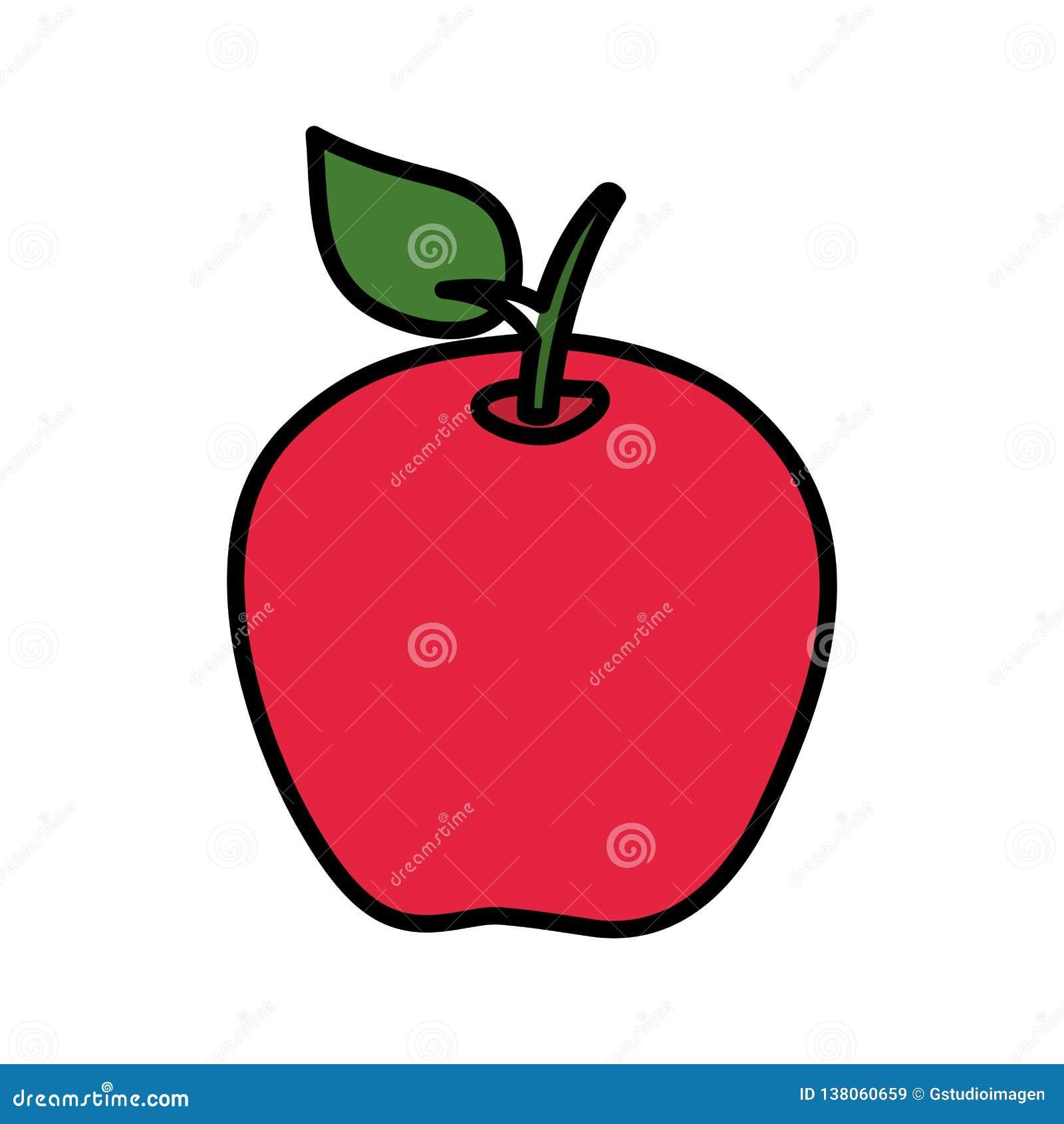 Icono de la fruta fresca de Apple