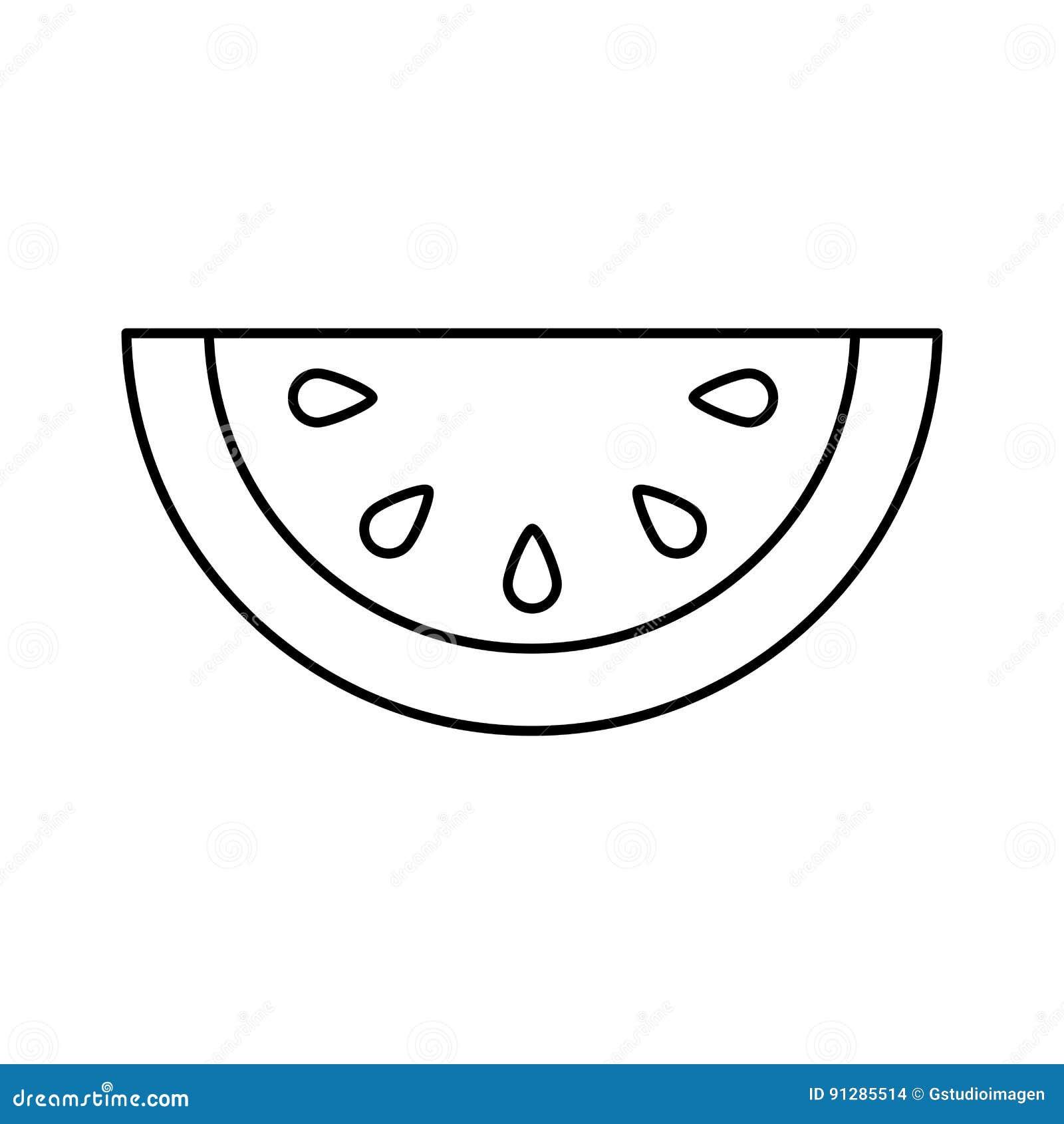 Icono de la fruta fresca del melón