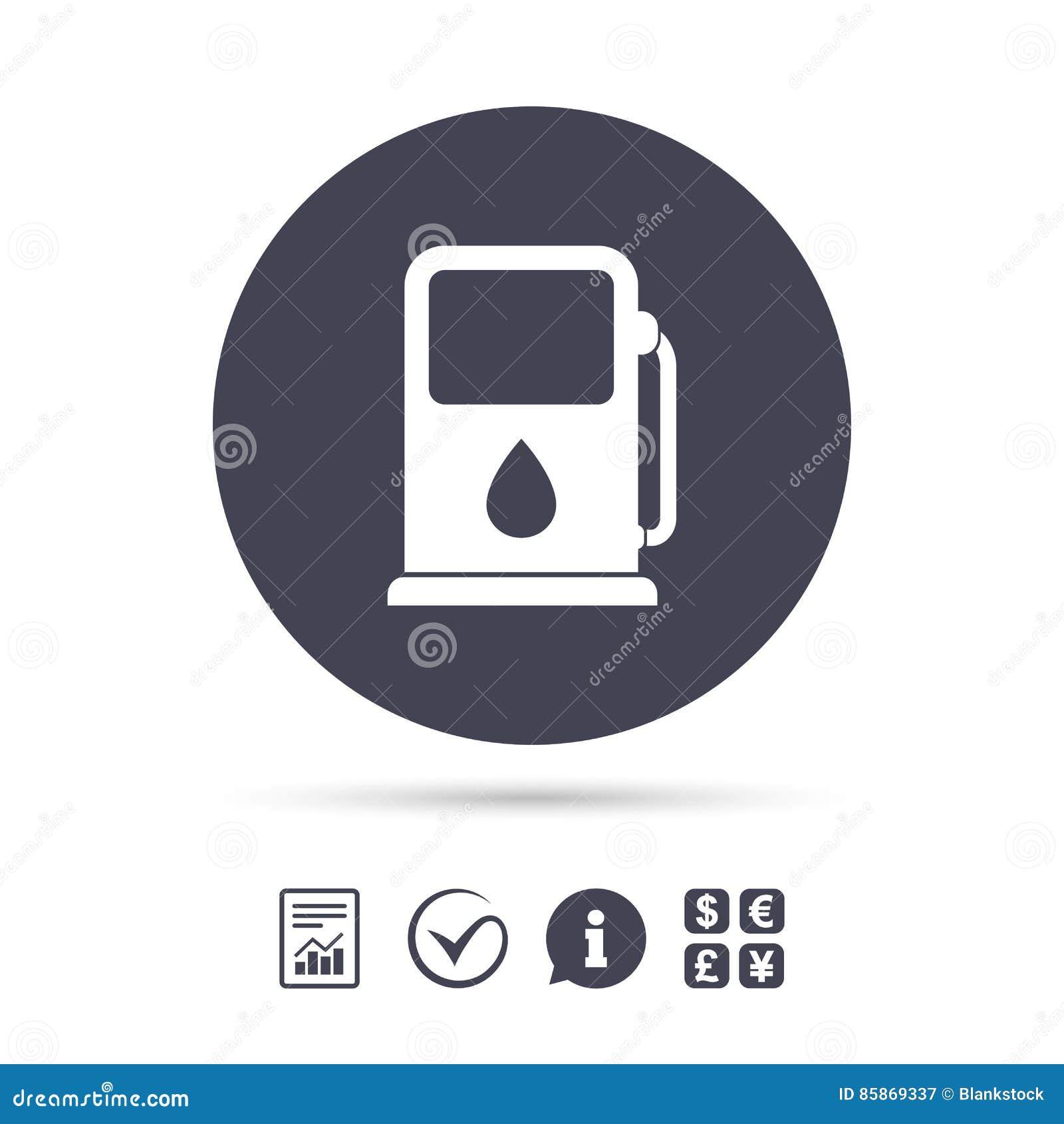 Icono De La Gasolinera De La Gasolina O Muestra Del Combustible ...