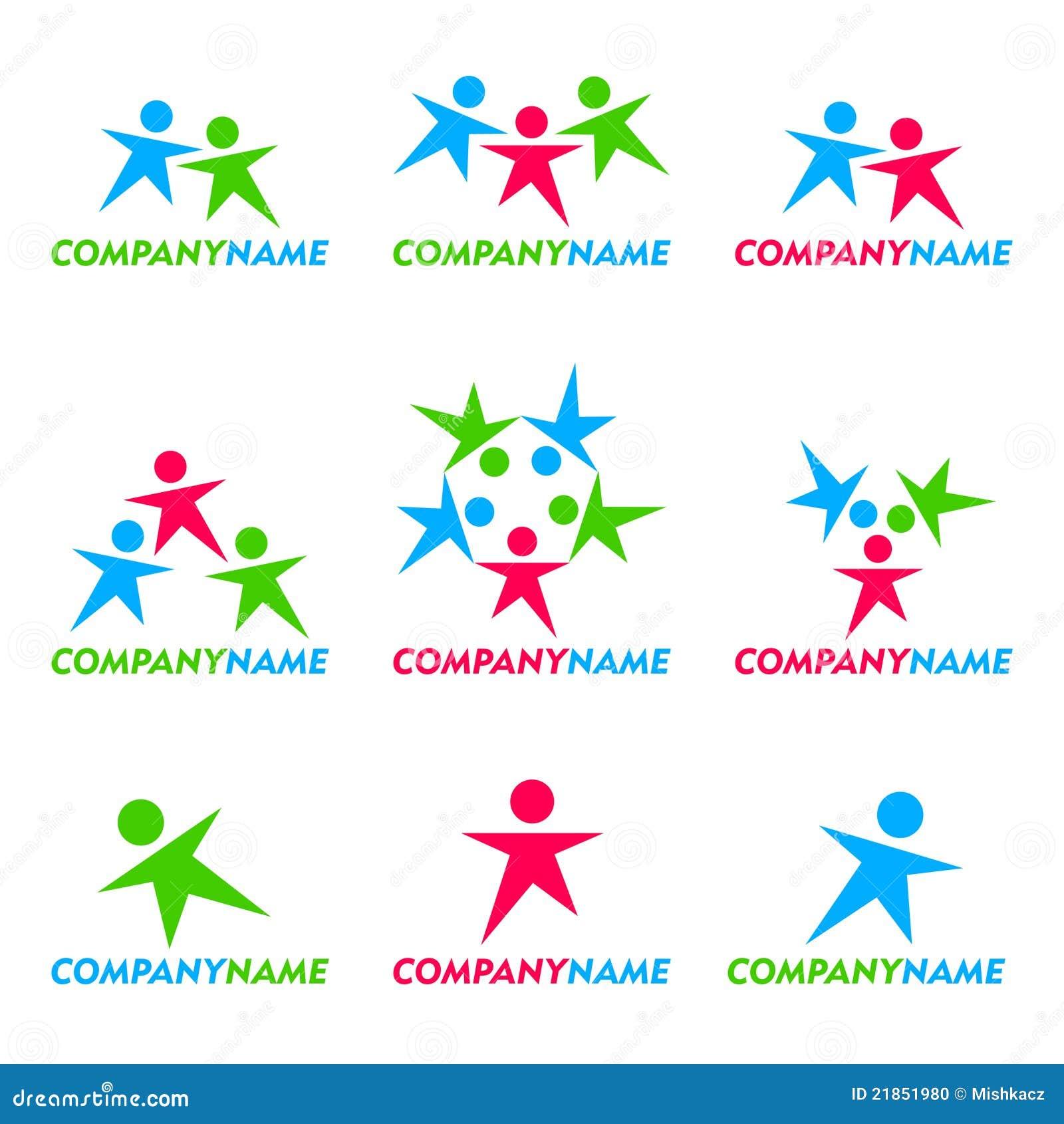 Icono de la gente y diseño de la insignia