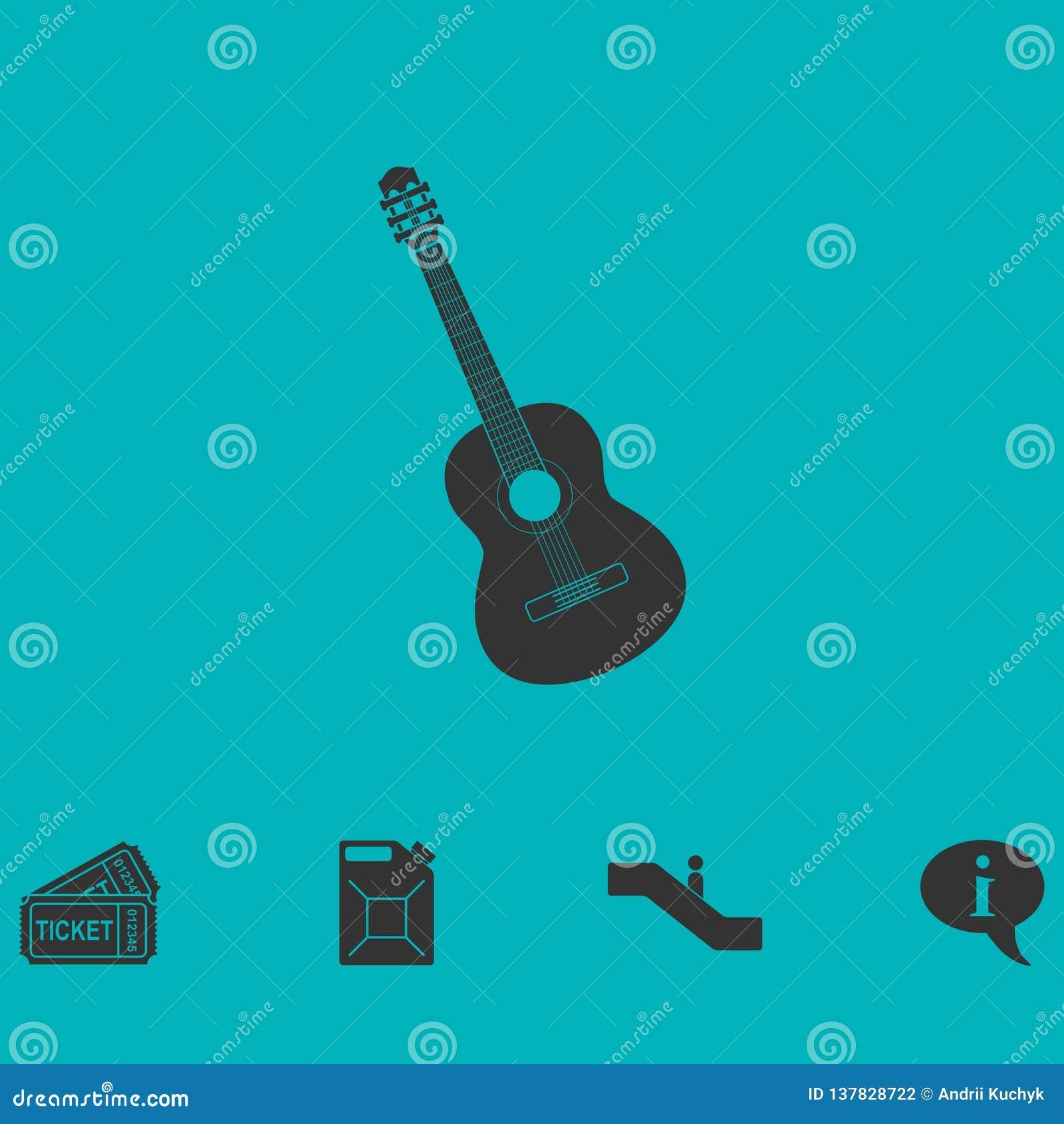 Icono de la guitarra acústica completamente