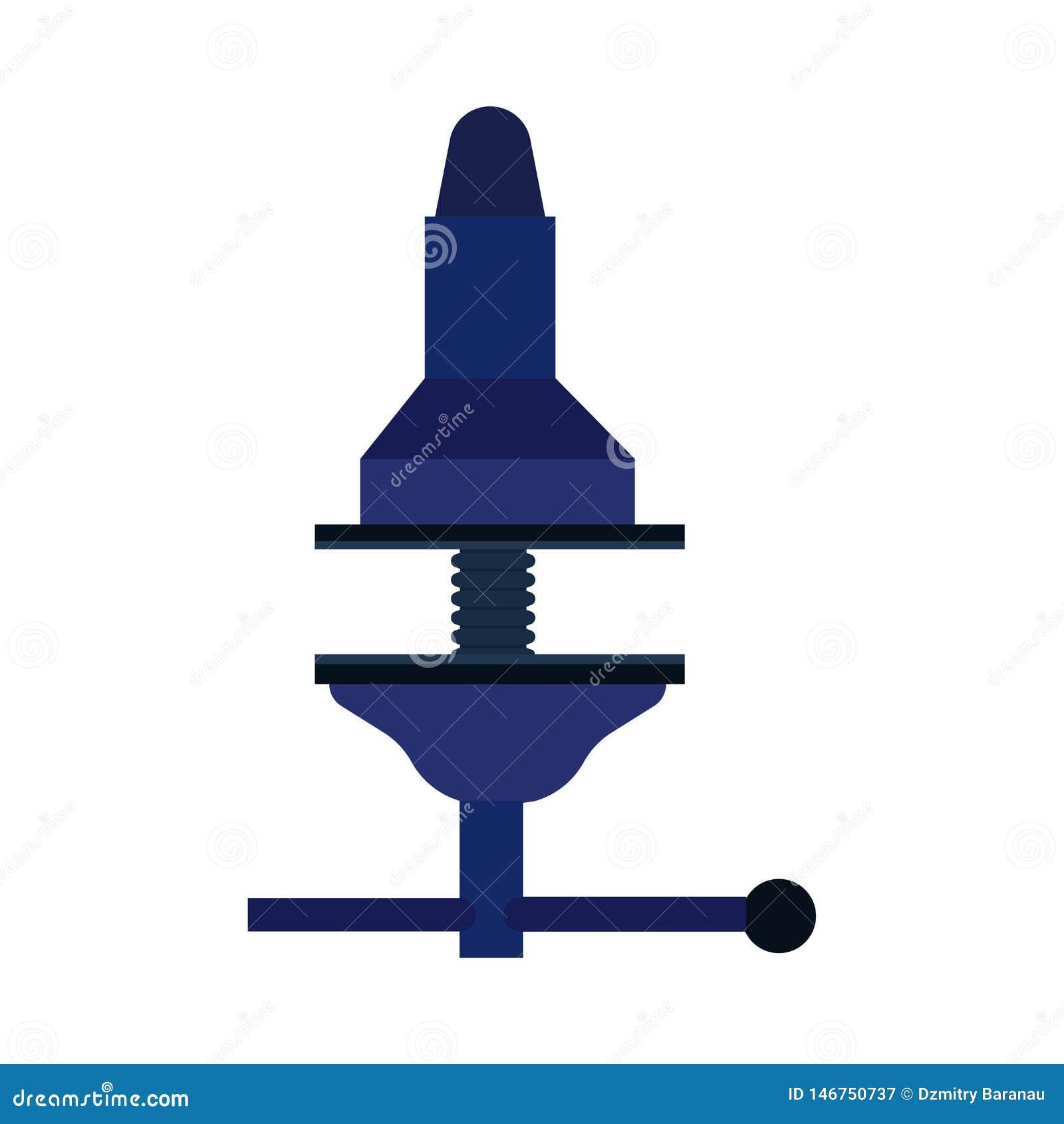 Icono de la herramienta de la abrazadera del equipo del sector de la construcción del vector del tornillo Presión ajustable de la