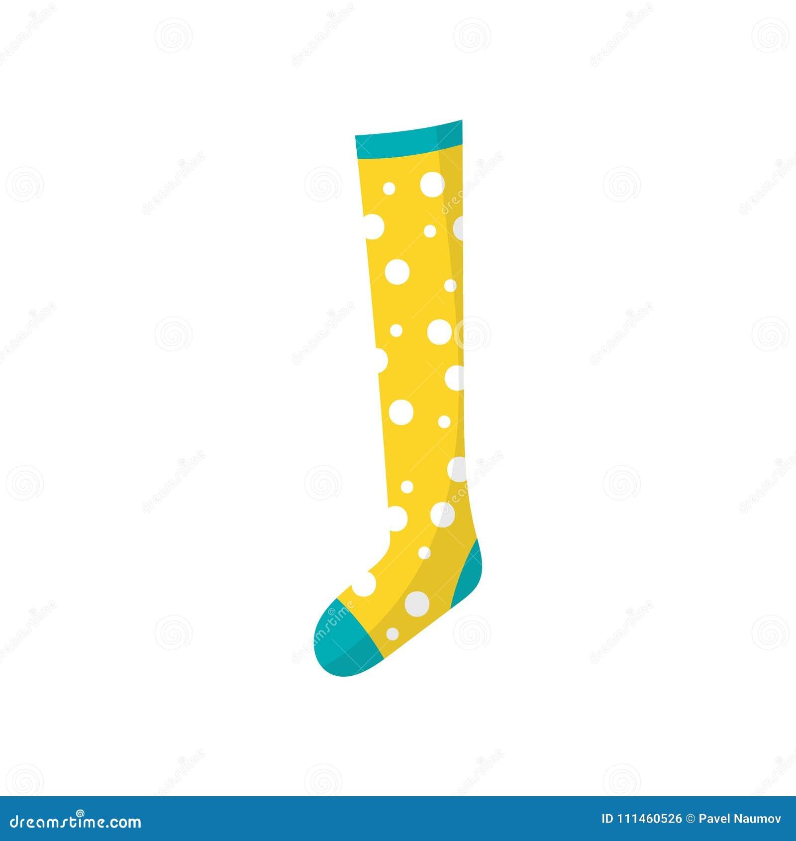 6487bf8d93 Icono de la historieta del calcetín del algodón de los pequeños niños s en  lunar Elemento de la ropa de los niños Ropa para el pie Artículo decorativo  para ...