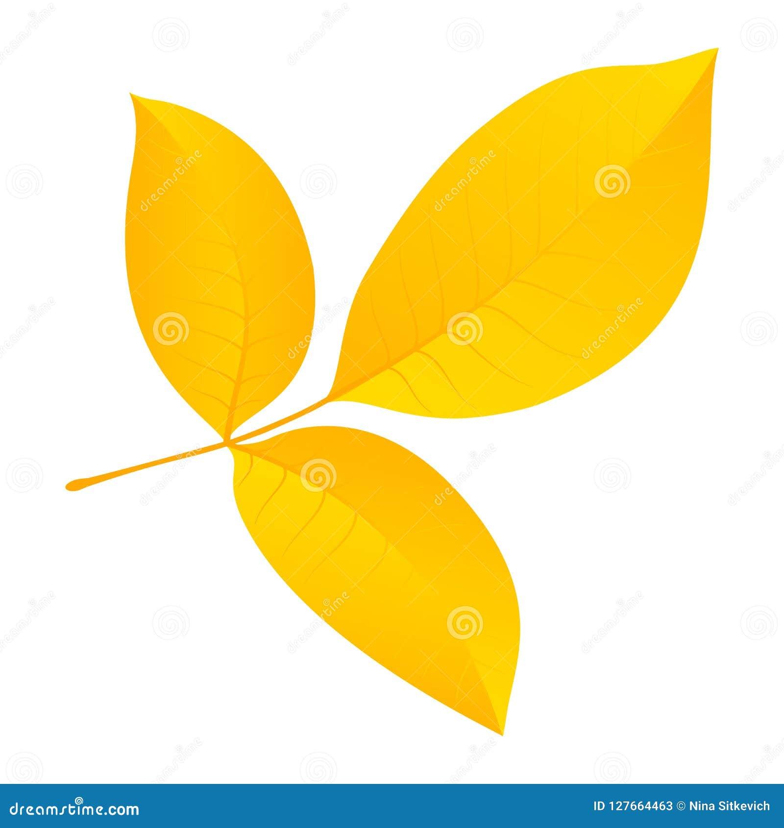 Icono de la hoja del otoño, estilo plano