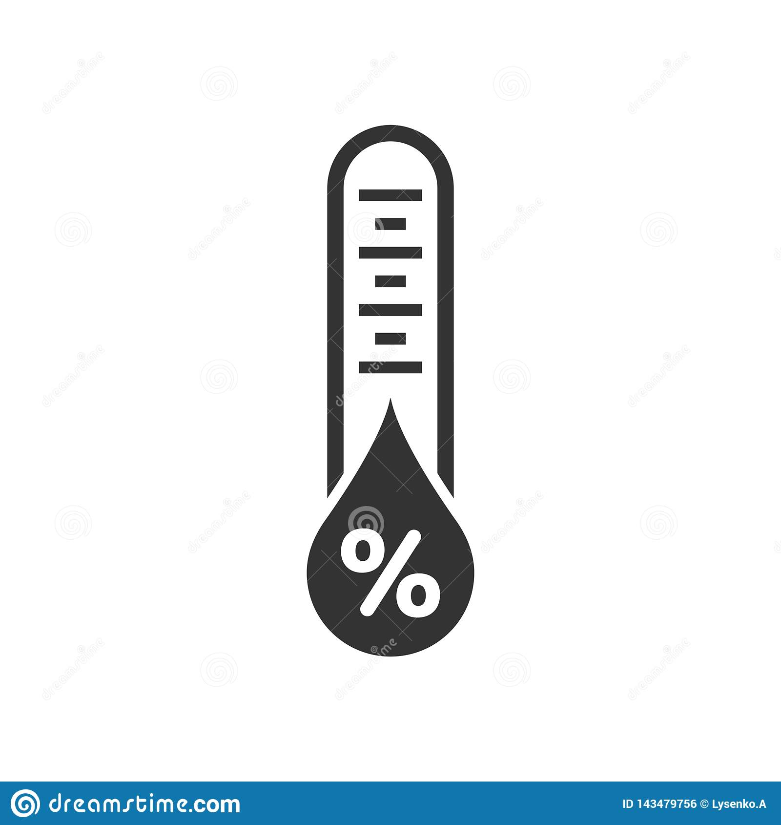 Icono de la humedad en estilo plano Ejemplo del vector del clima en el fondo aislado blanco Concepto del negocio del pronóstico d