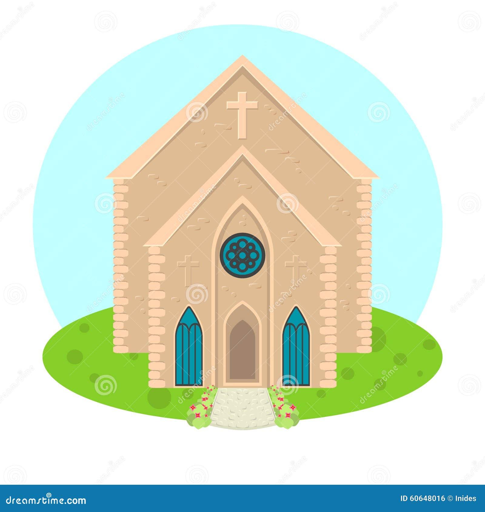 Icono de la iglesia del vector