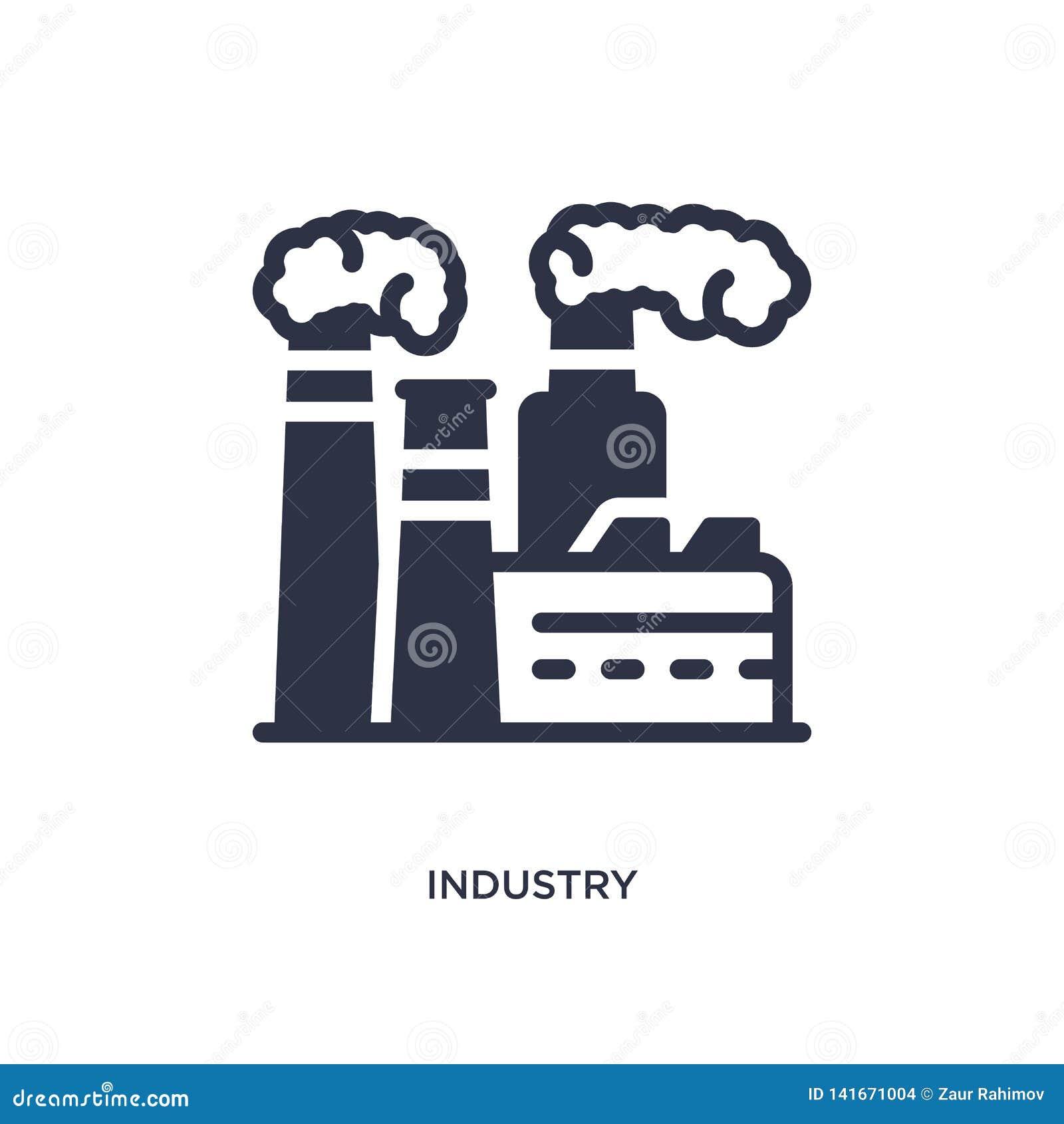 Icono de la industria en el fondo blanco Ejemplo simple del elemento del concepto del desierto