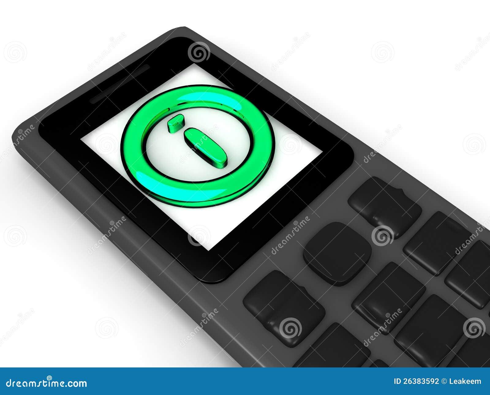 Icono de la información en el teléfono