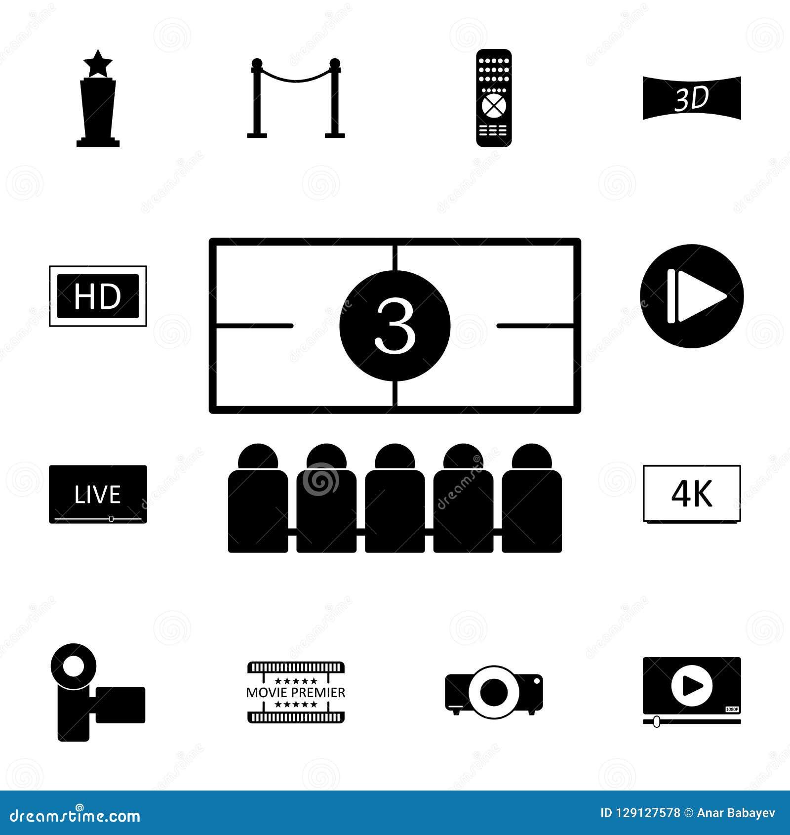 Icono de la investigación de la película Sistema detallado de iconos del cine Icono superior del diseño gráfico de la calidad Uno