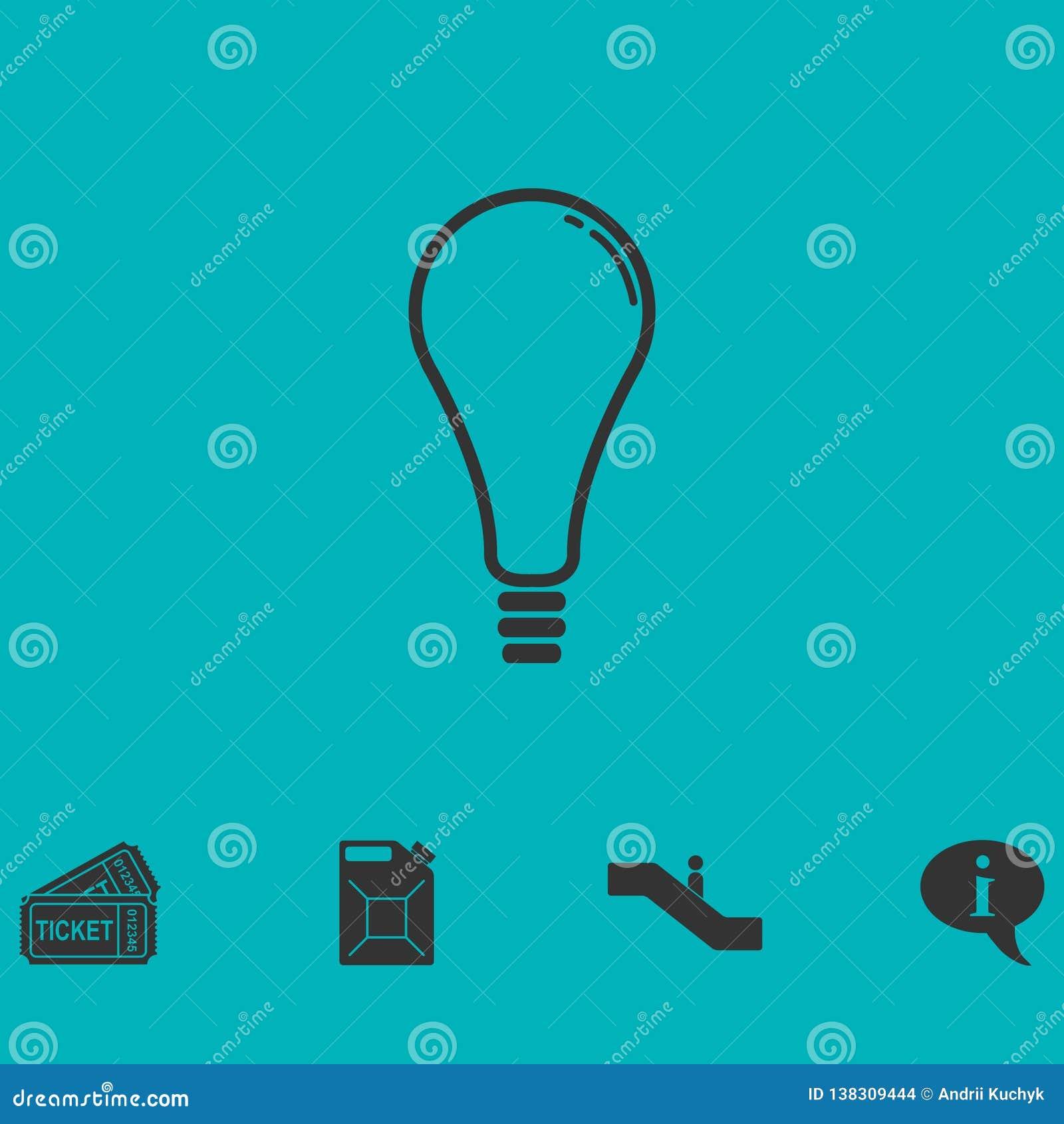 Icono de la lámpara plano