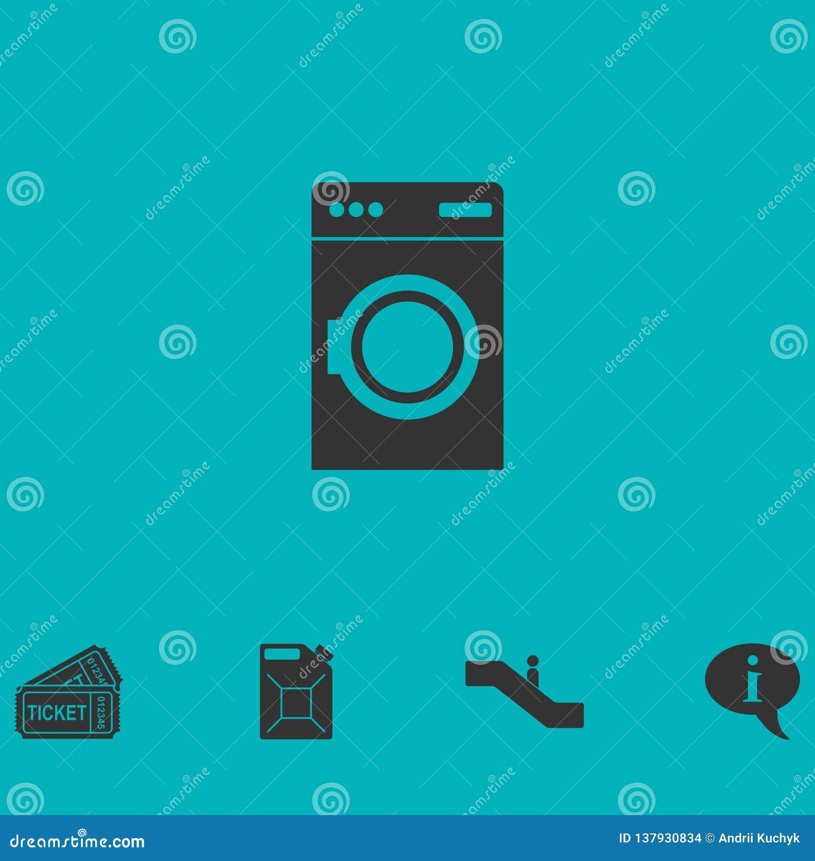Icono de la lavadora plano