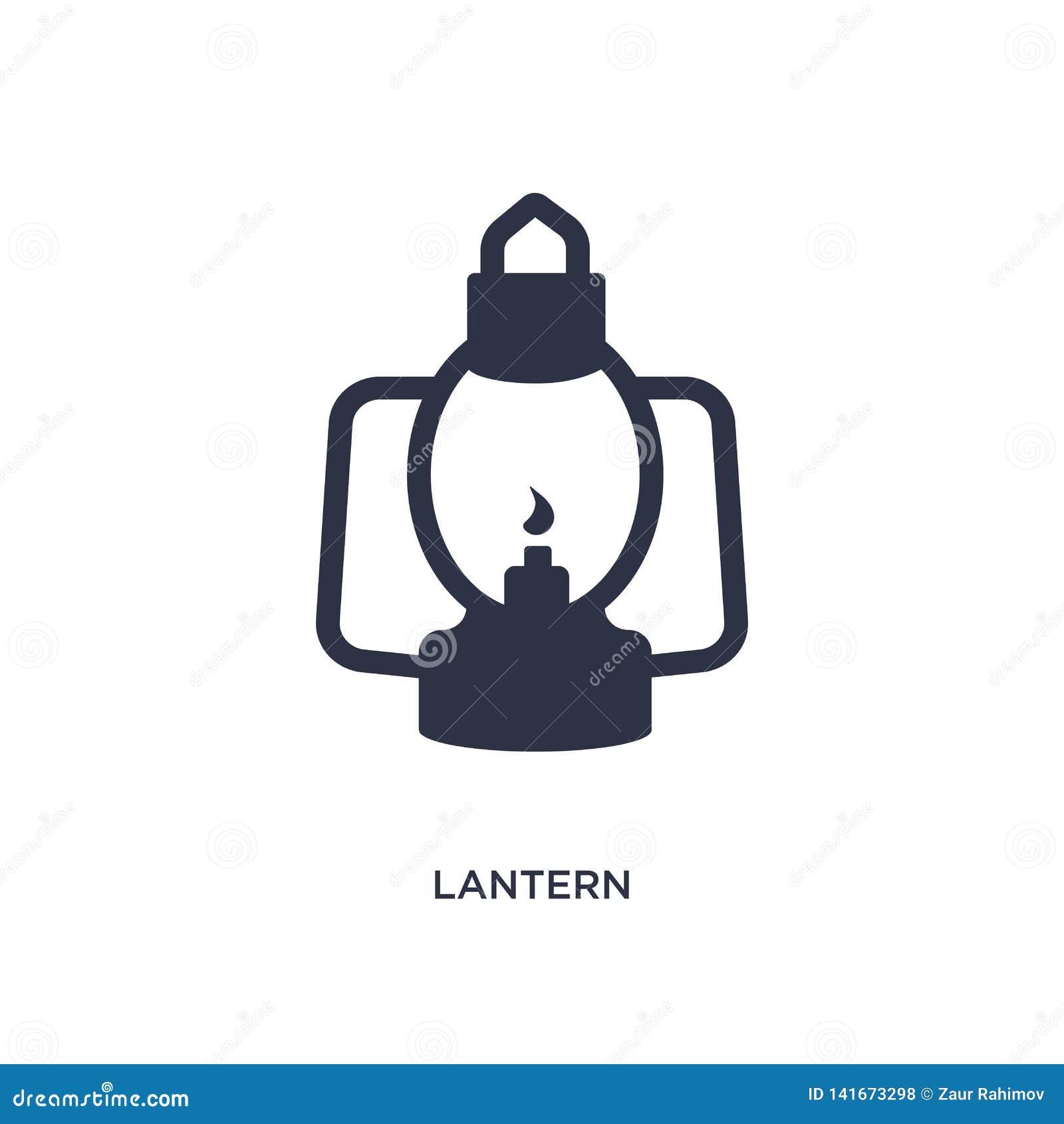 Icono de la linterna en el fondo blanco Ejemplo simple del elemento del concepto del verano
