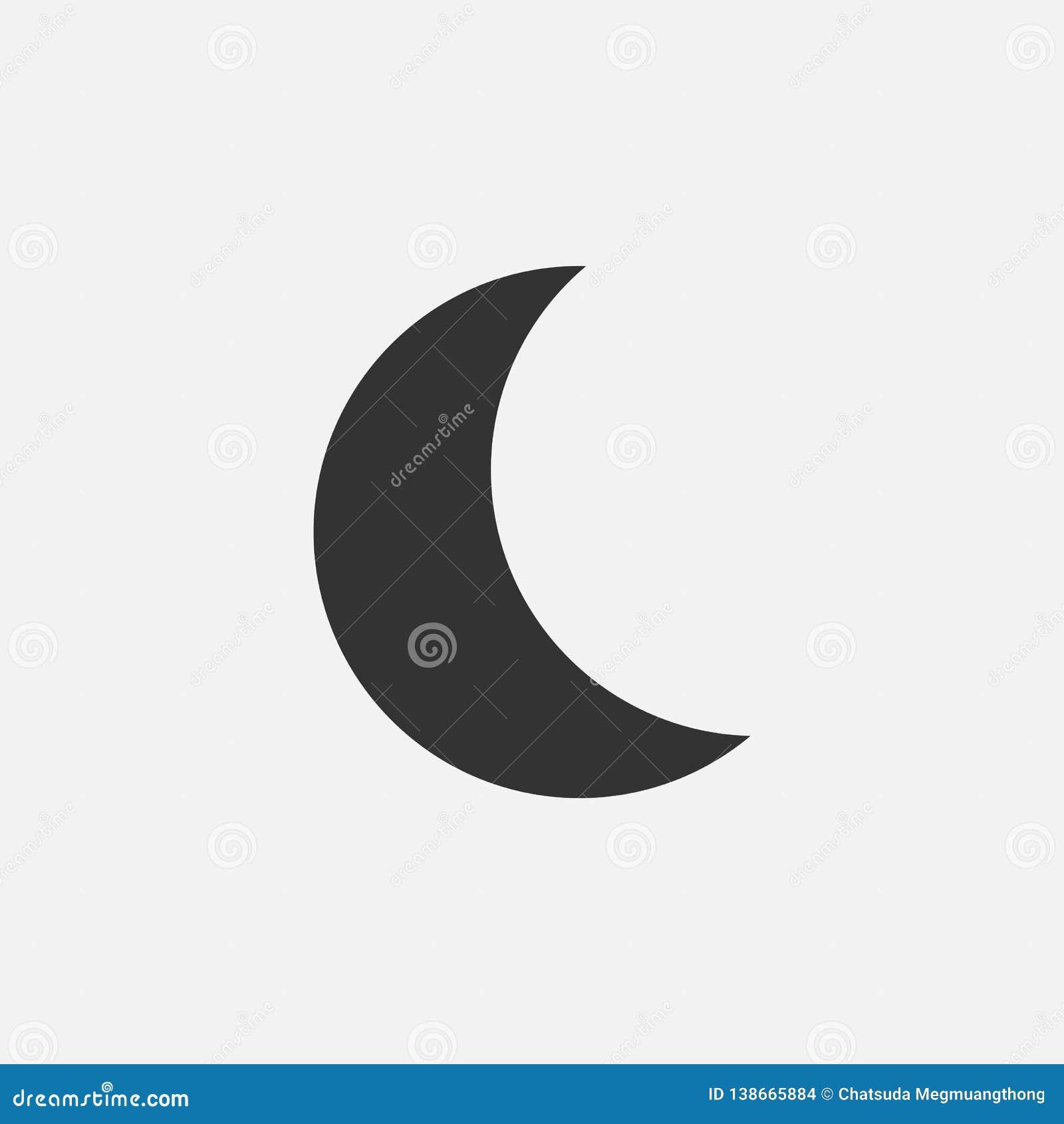 Icono de la luna, noche, cielo, sueño